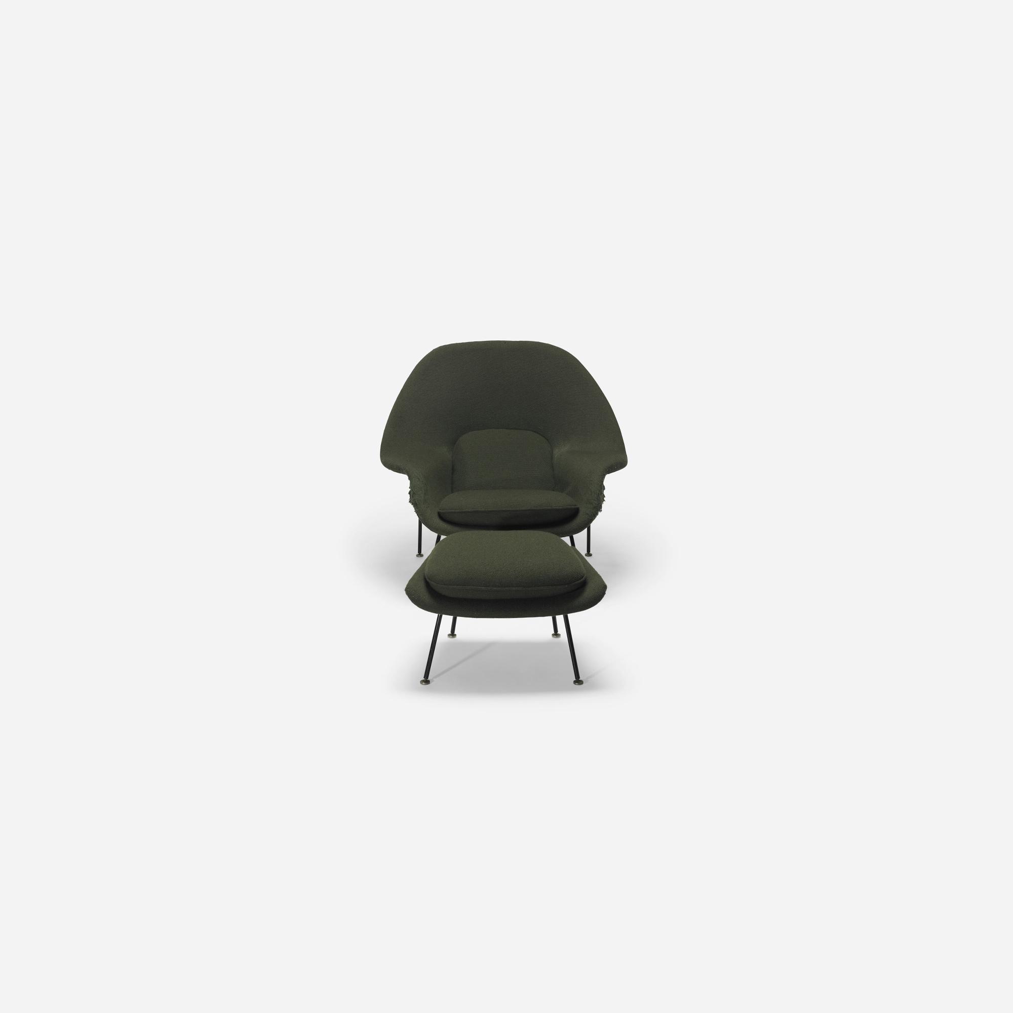 521 Eero Saarinen Womb Chair And Ottoman