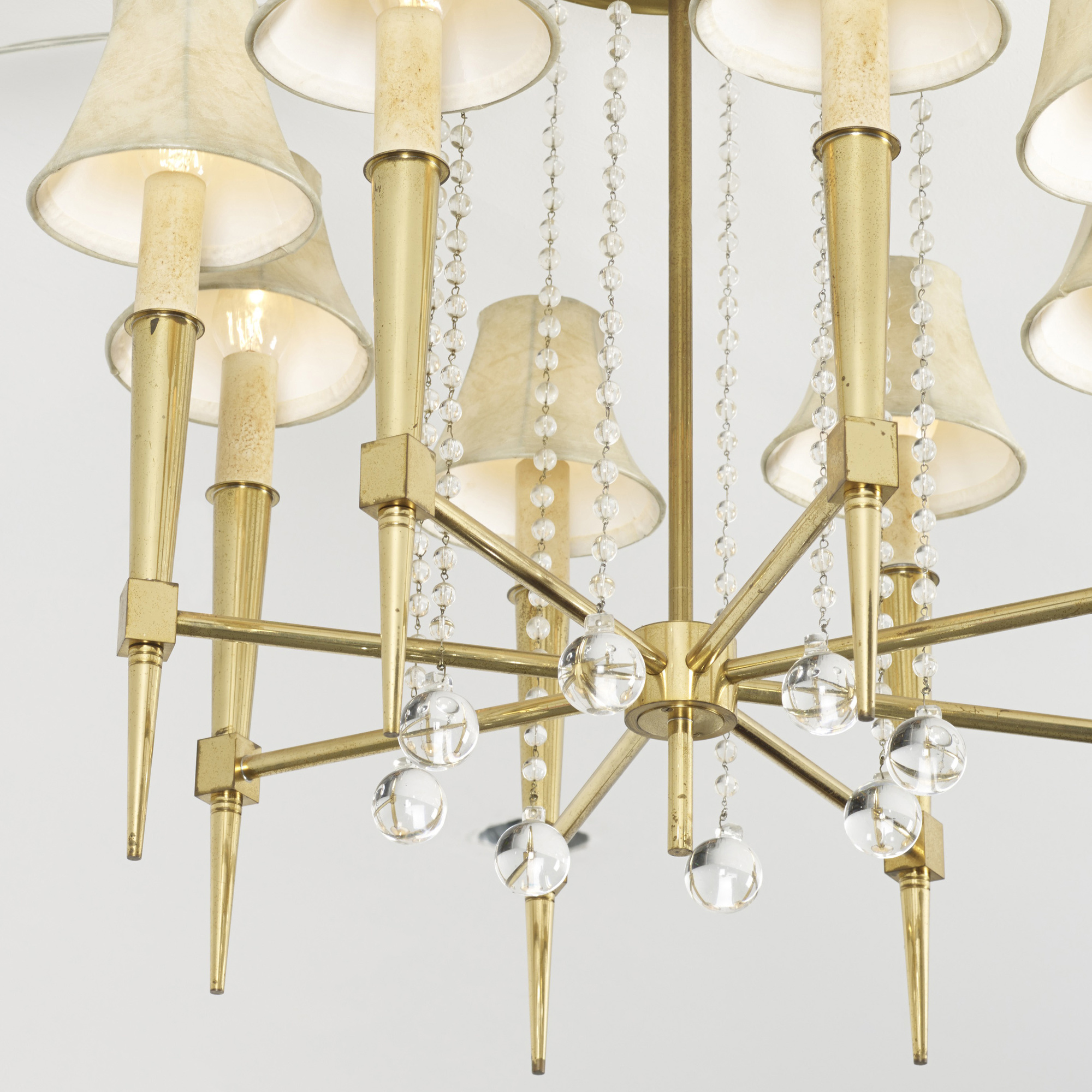 529 Tommi Parzinger Custom Chandelier From The Appleman Commission 2 Of 3