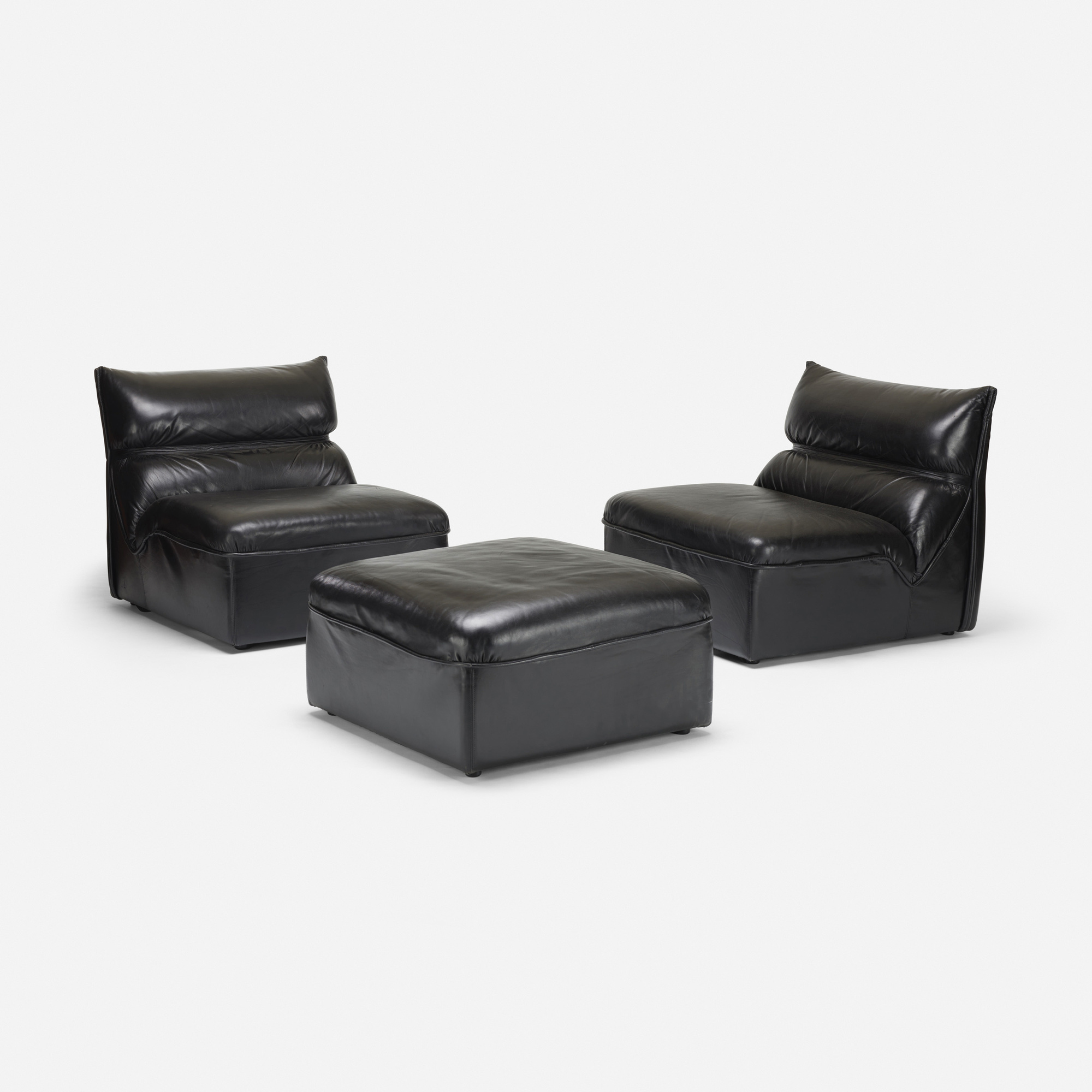 535: Mariani / lounge chairs, pair and ottoman (1 of 2)