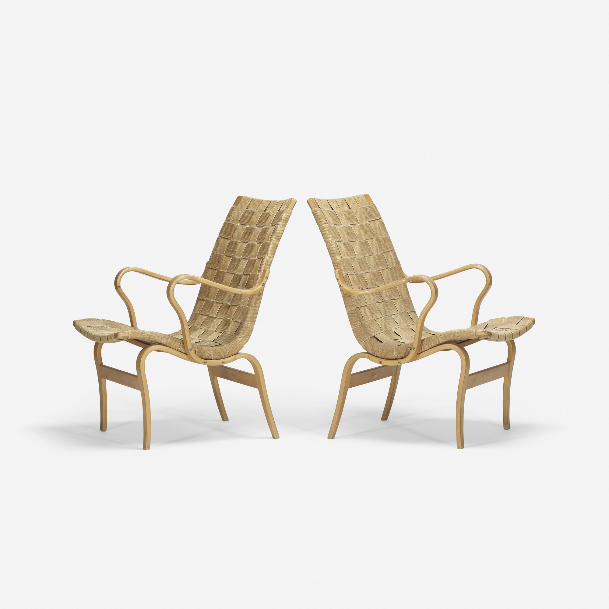 540: Bruno Mathsson / Eva chairs, pair (1 of 2)