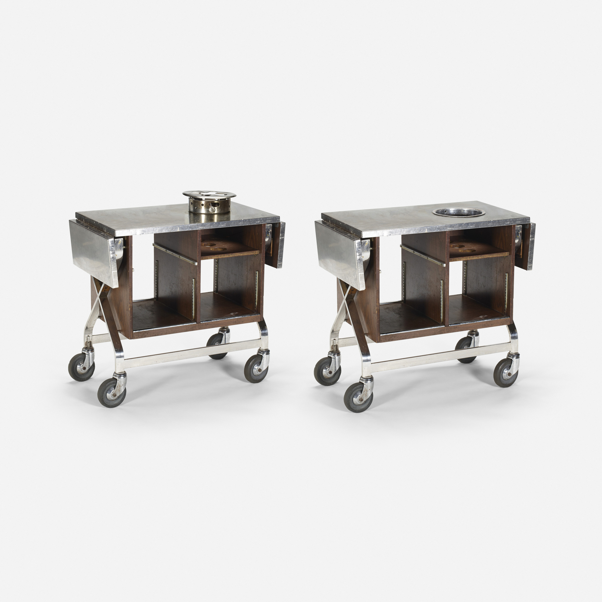 551: Garth and Ada Louise Huxtable / Serving carts from The Four Seasons, pair (1 of 1)