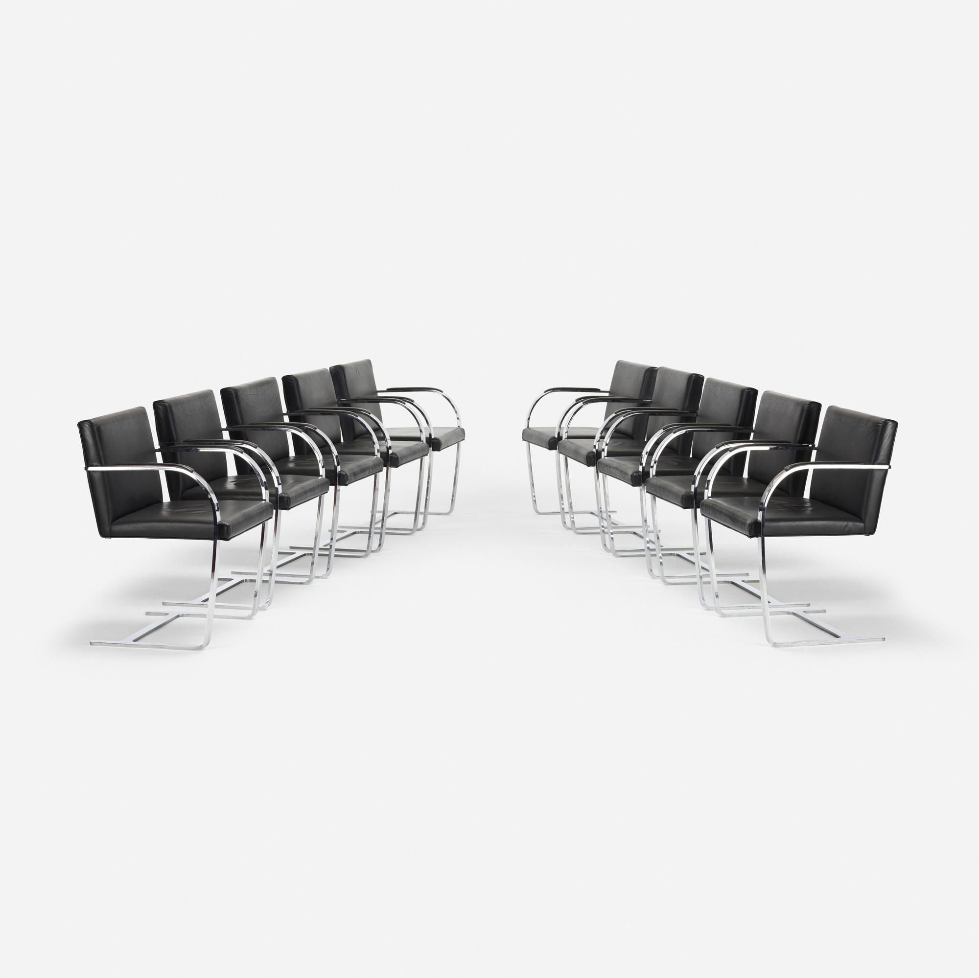 571: Ludwig Mies van der Rohe / Brno chairs, set of ten (1 of 2)