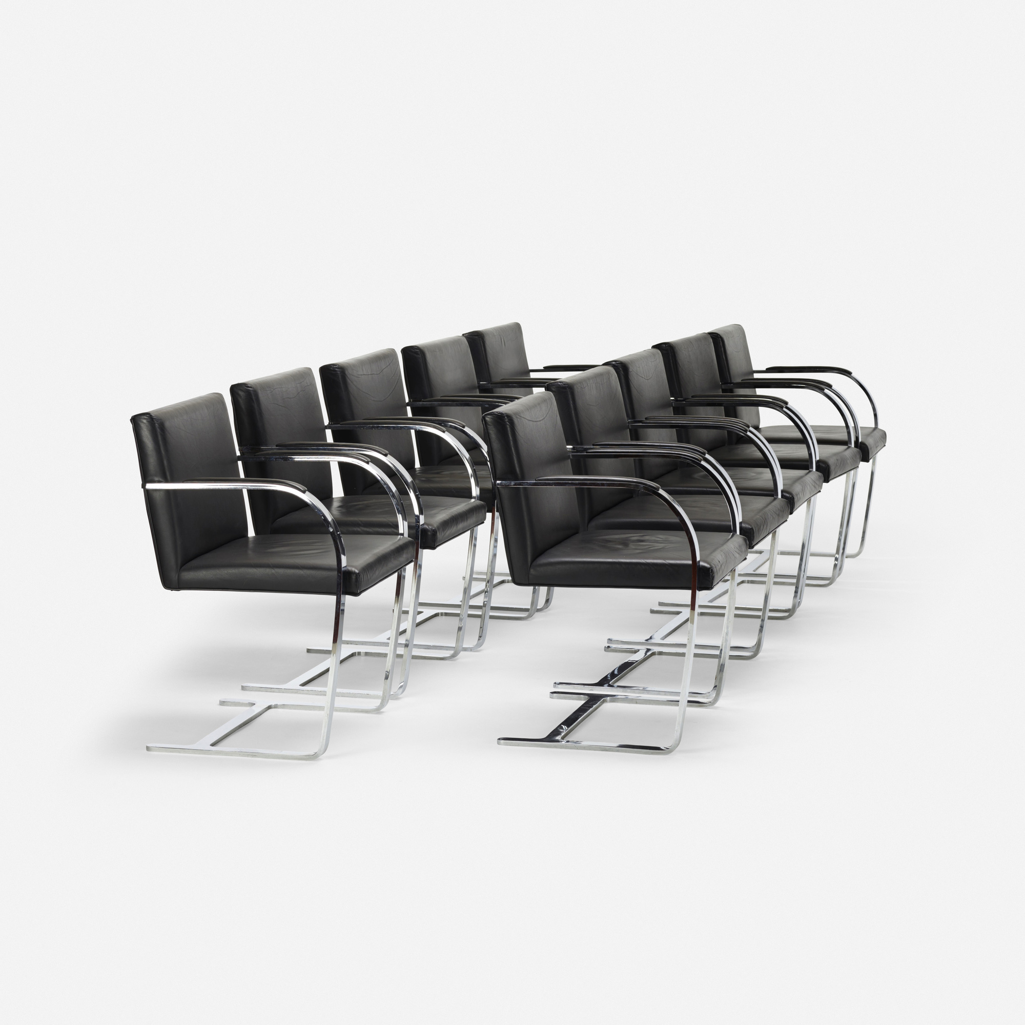571 Ludwig Mies van der Rohe Brno chairs set of ten Mass