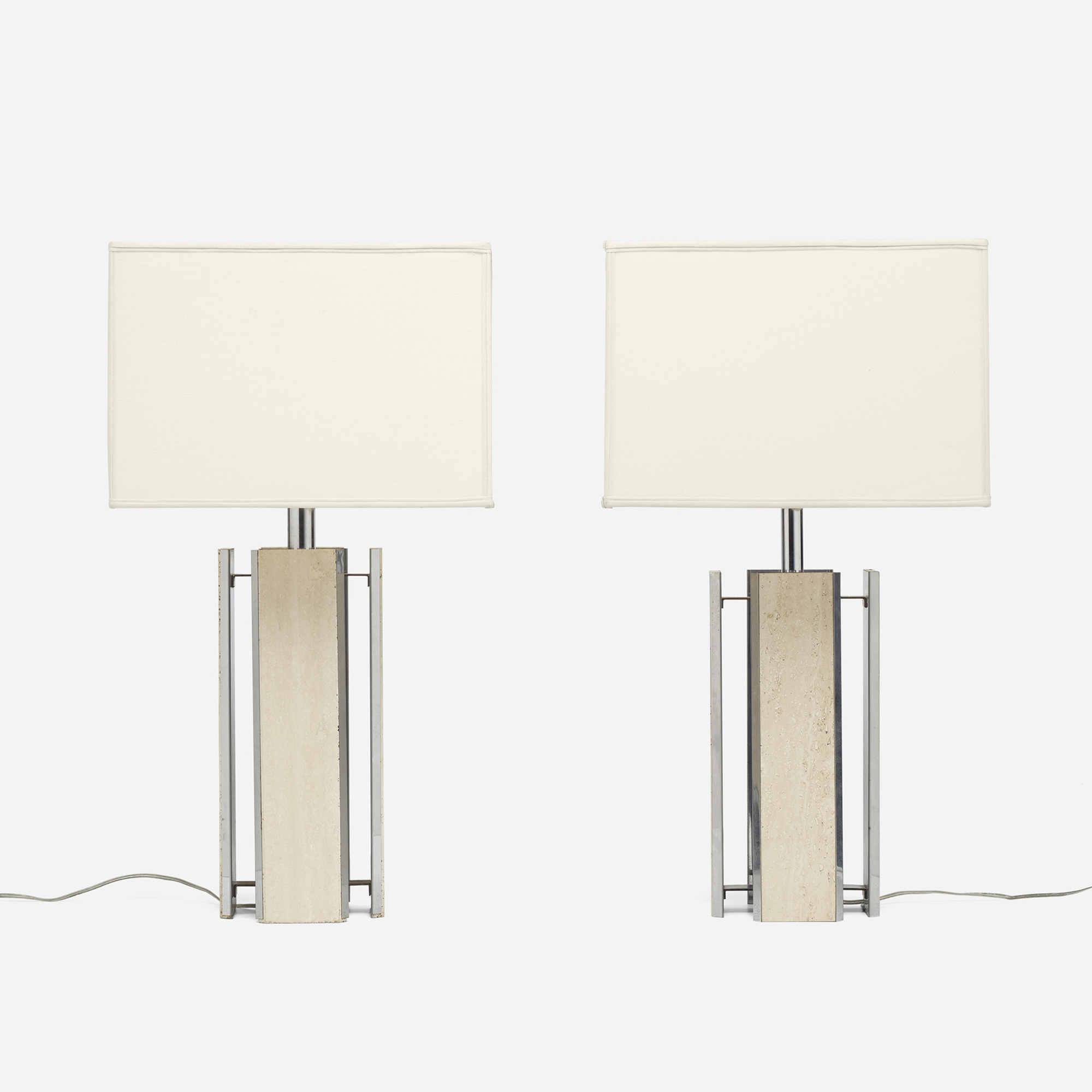 581: Modern / table lamps, pair (1 of 3)