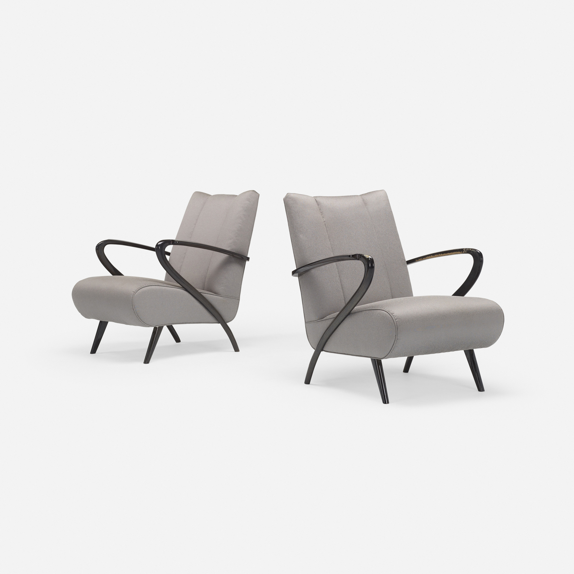 584: Modern / lounge chairs, pair (1 of 4)