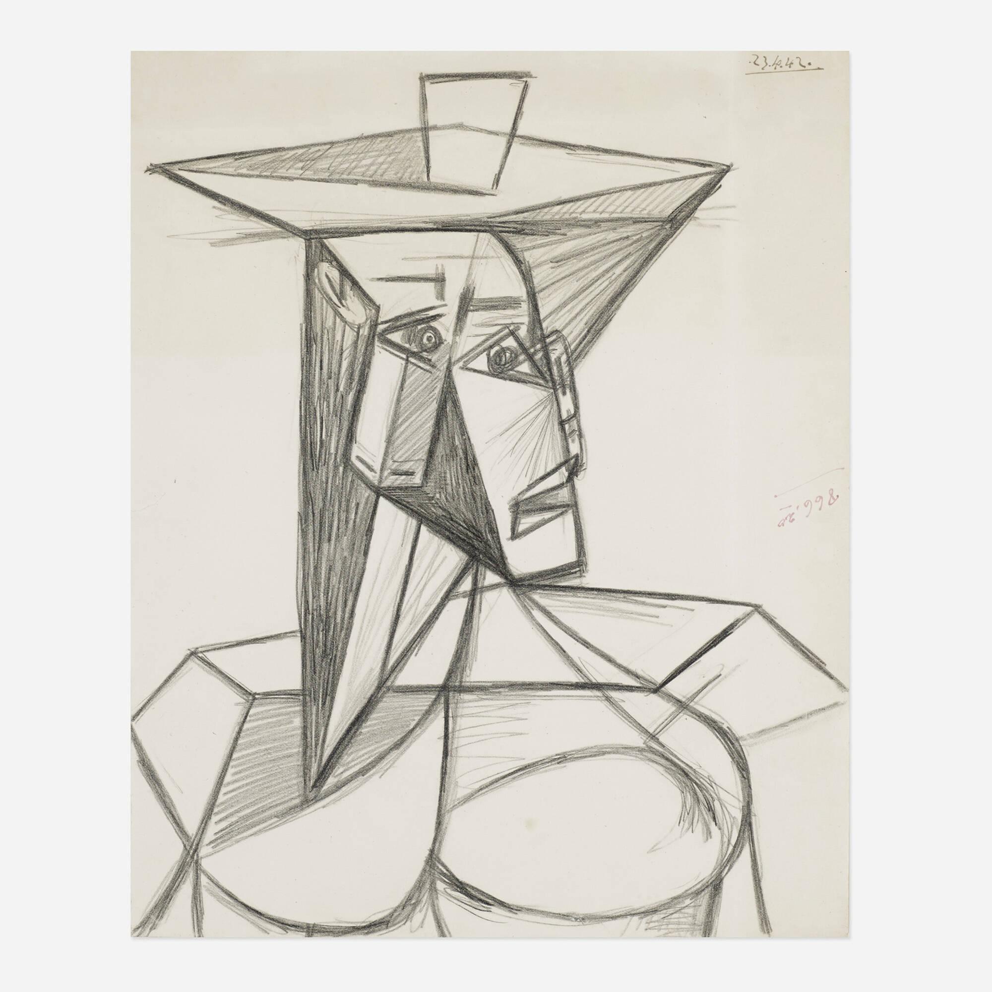 5: PABLO PICASSO, Buste de Femme < Pablo Picasso: Master Drawings ...