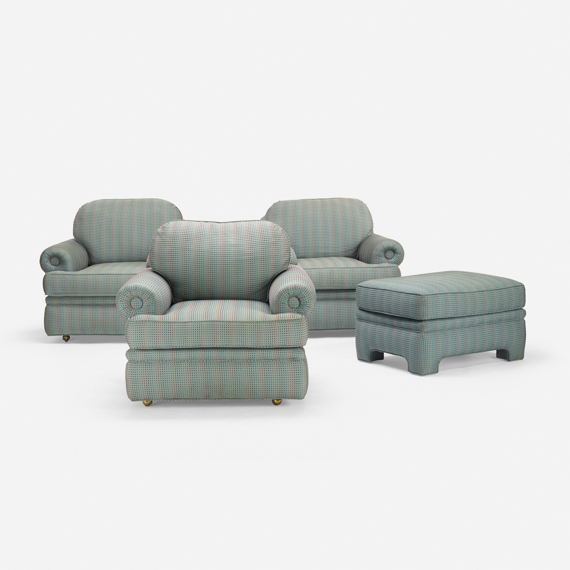 600: Modern / set of three lounge chairs and ottoman (1 of 1)