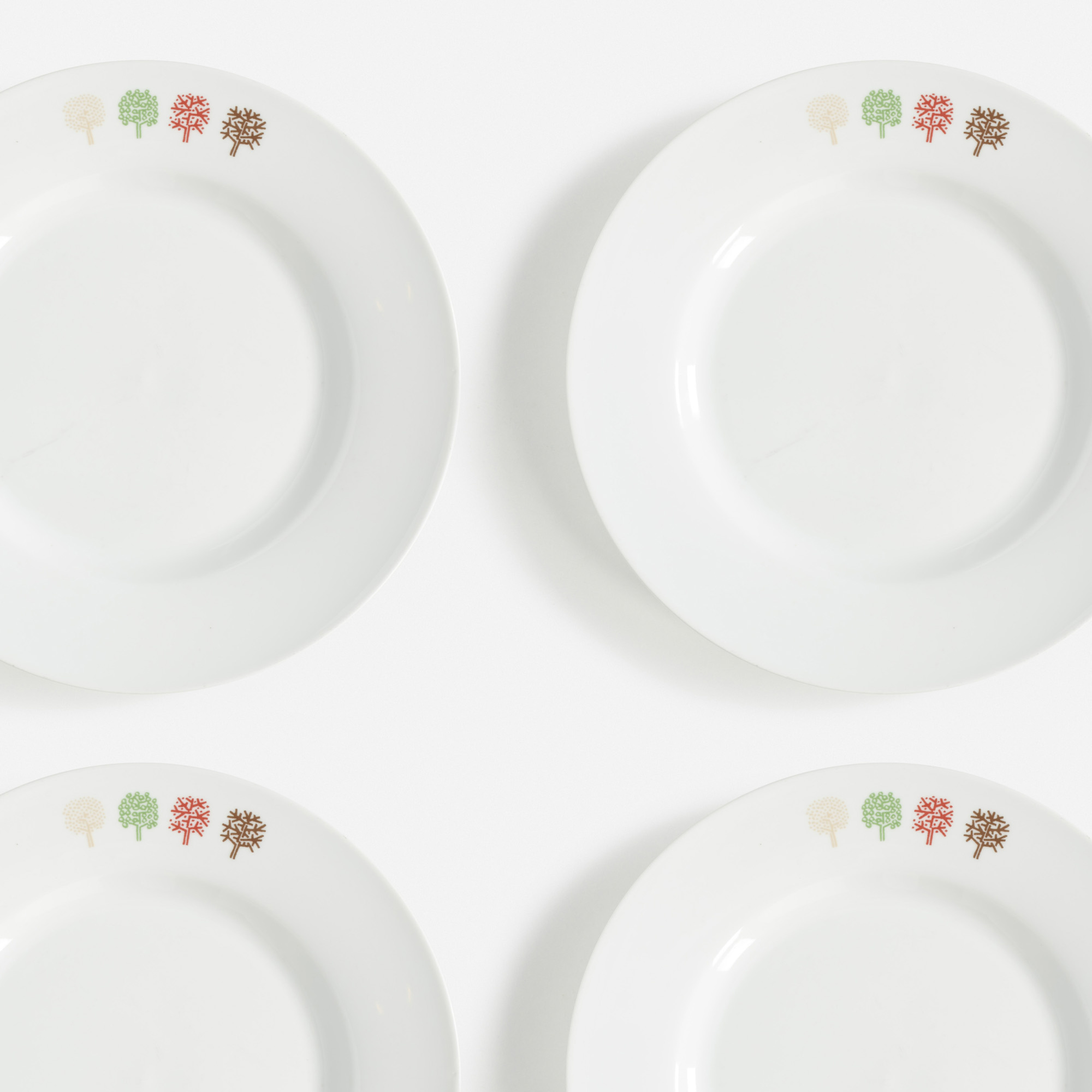 603:  / Four Seasons plates, set of twelve (1 of 1)