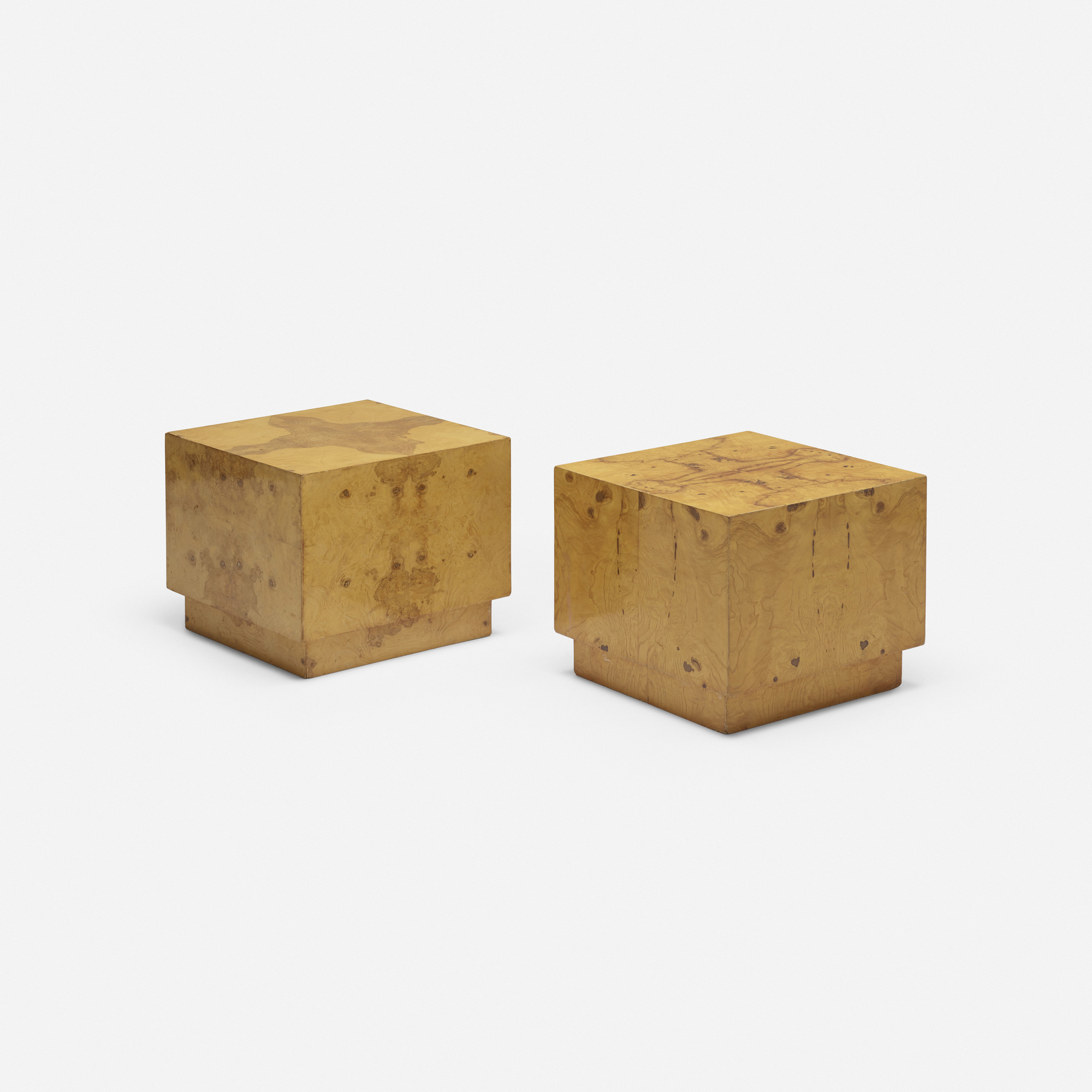 604: Modern / occasional tables, pair (1 of 3)