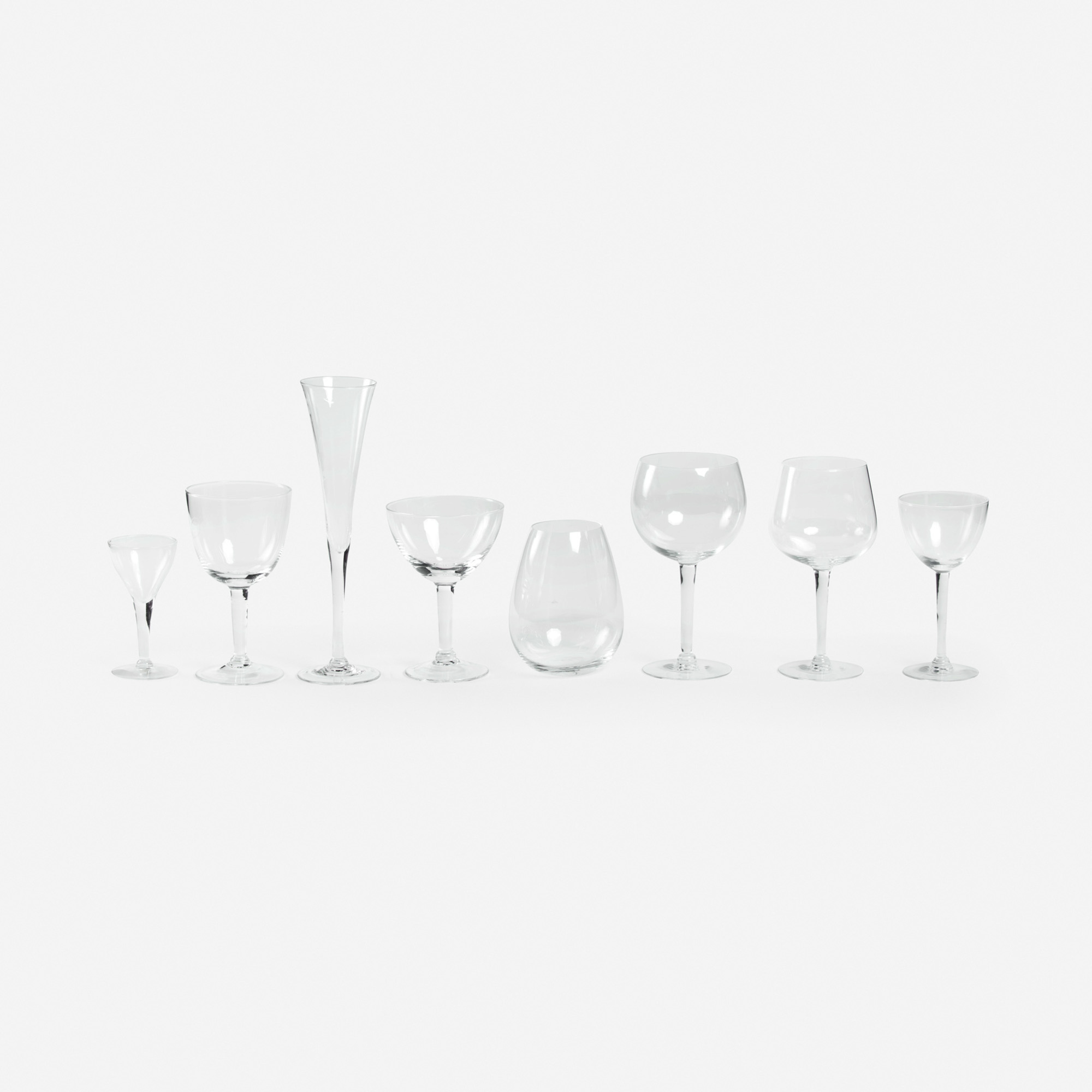 607: Garth and Ada Louise Huxtable / Stemware Collection from The Four Seasons, service for twelve (1 of 1)
