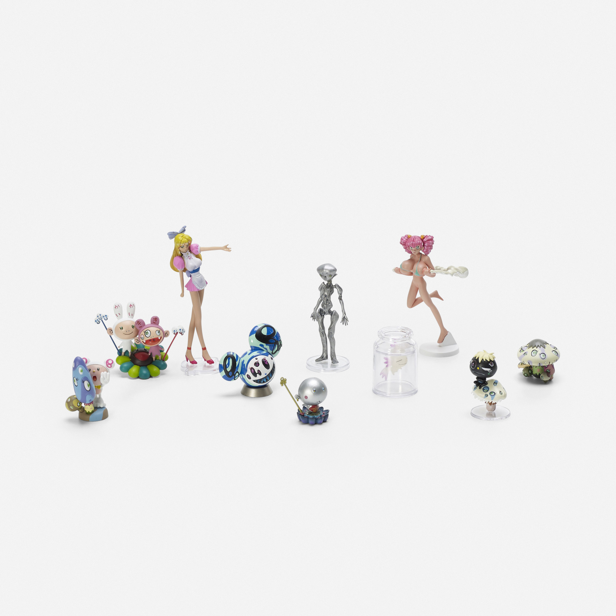 622: Takashi Murakami / set of ten figures from Superflat Museum: Convenience Store Edition (1 of 2)
