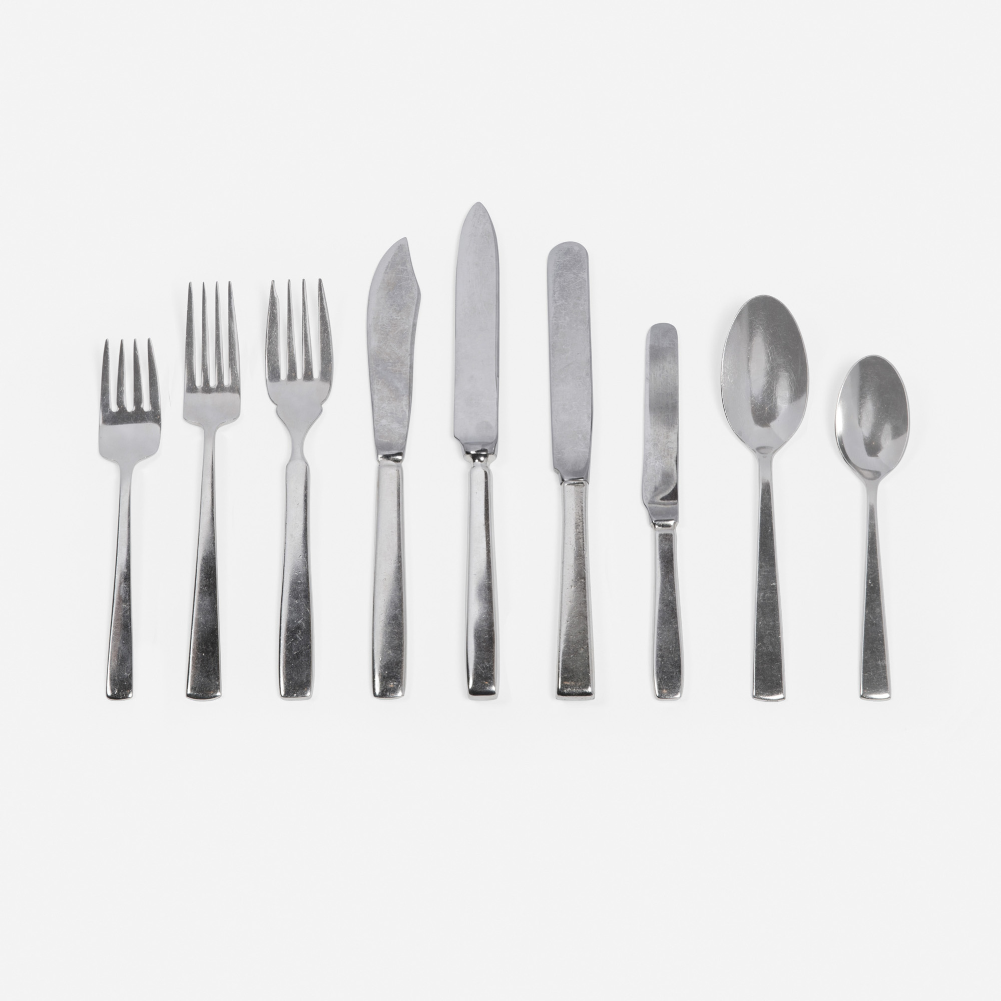 627: Garth and Ada Louise Huxtable / Four Seasons flatware from the Pool Room, service for twelve (1 of 1)