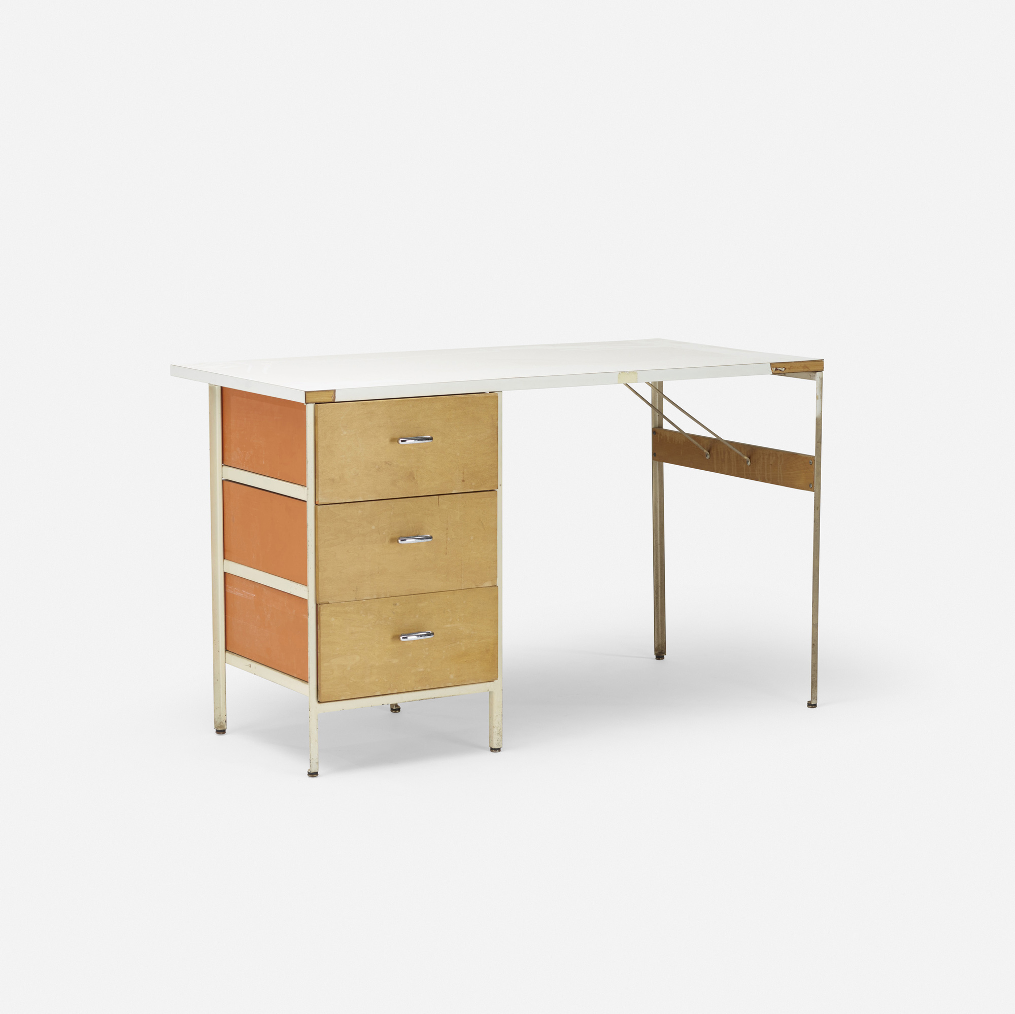 632: George Nelson & Associates / Steelframe desk, model 4173 (1 of 1)