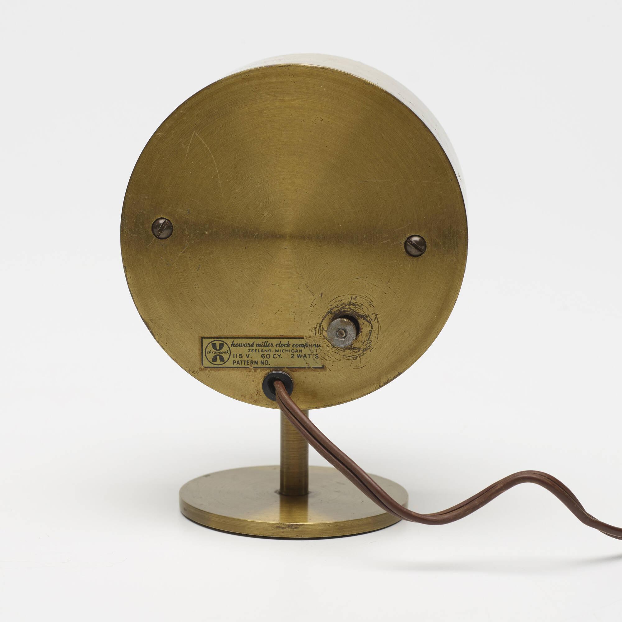 ... 635: George Nelson U0026 Associates / Table Clock, Model 4766 (2 Of 2