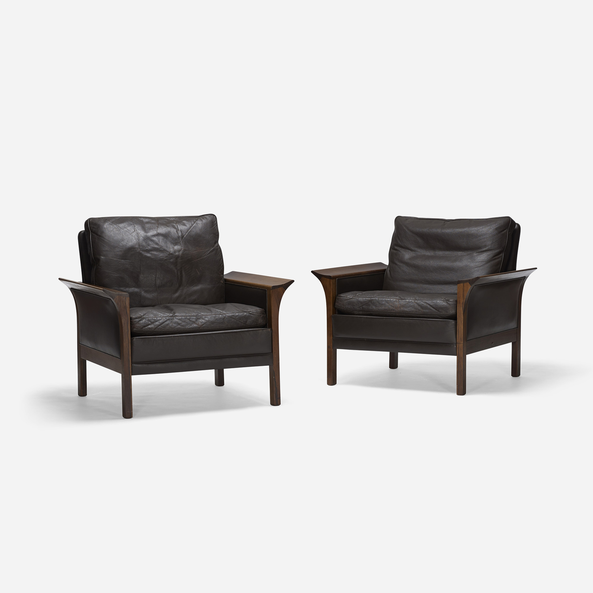 643: Hans Olsen / lounge chairs model 400, pair (1 of 3)