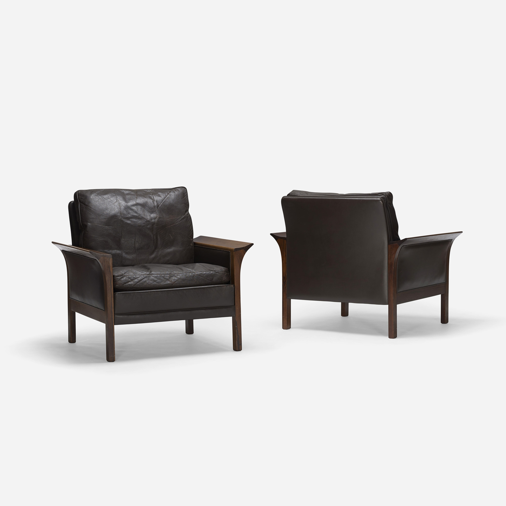 643: Hans Olsen / lounge chairs model 400, pair (2 of 3)