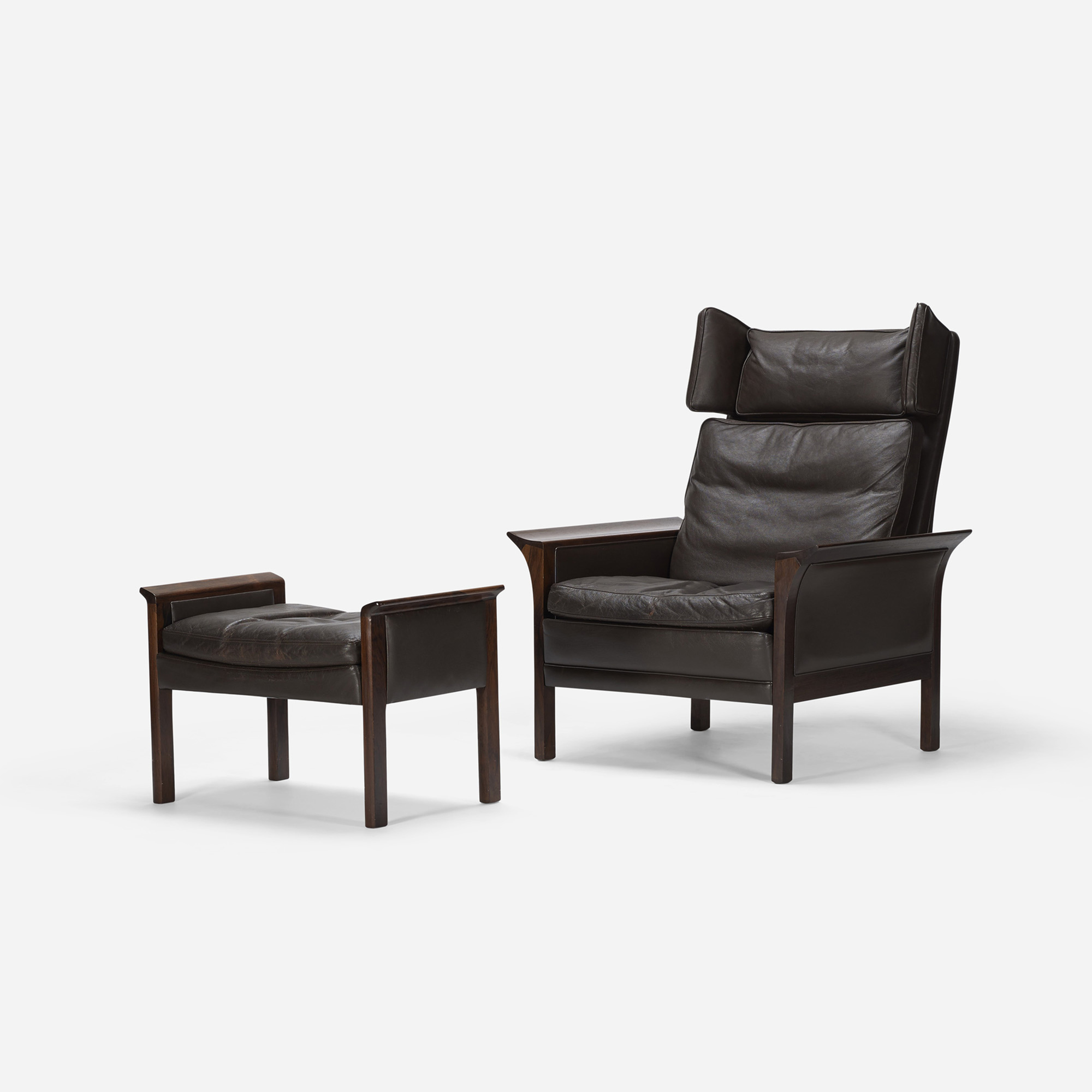 644: Hans Olsen / Lounge Chair And Ottoman, Model 500 H (1 Of