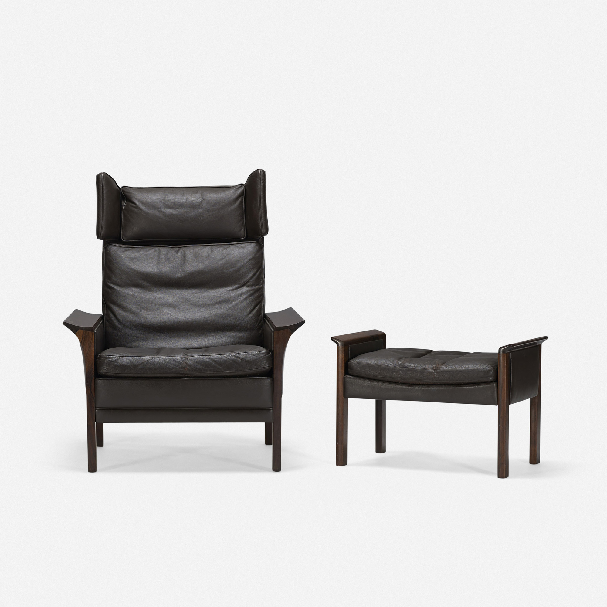 ... 644: Hans Olsen / Lounge Chair And Ottoman, Model 500 H (2 Of