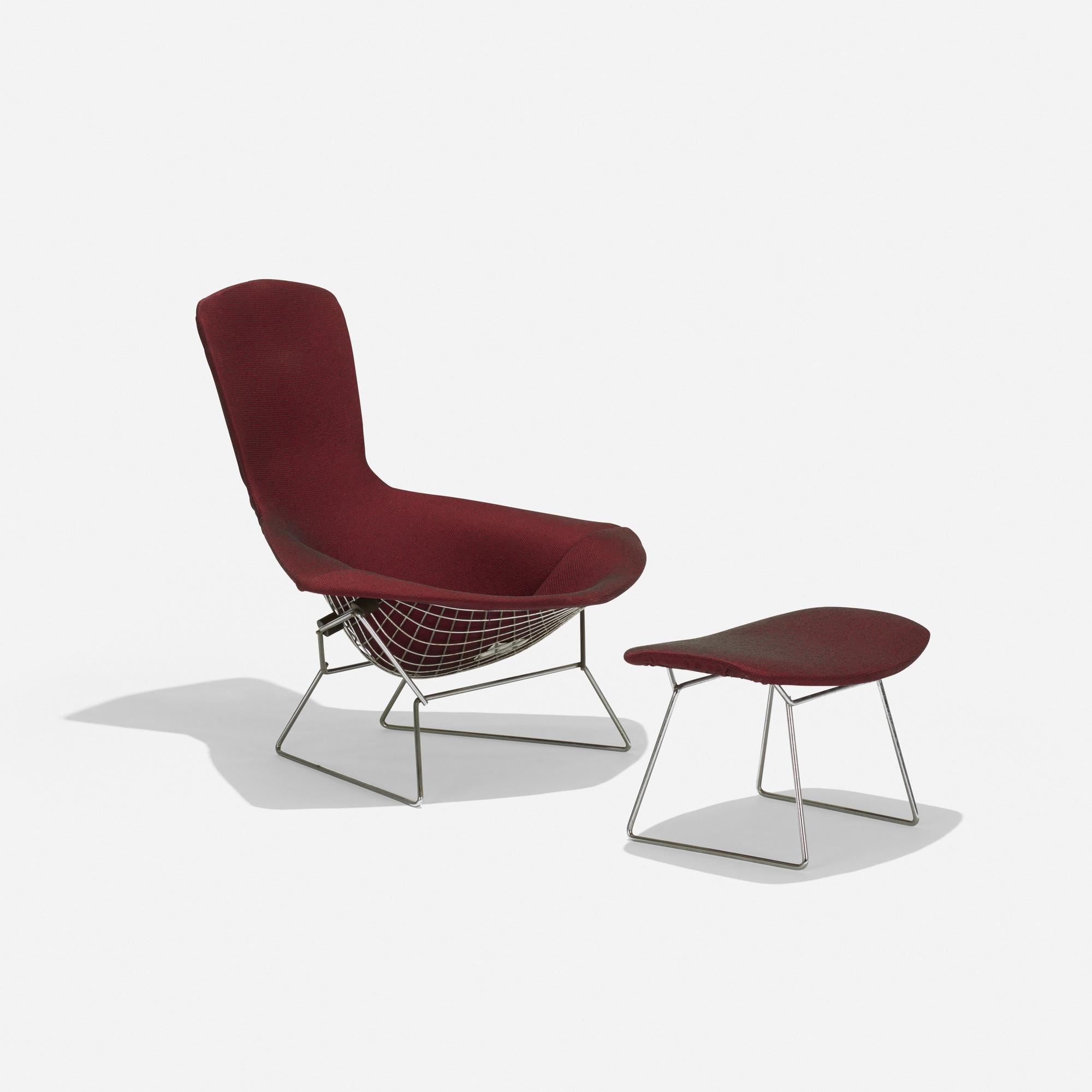 650 Harry Bertoia Bird Chair And Ottoman American Design 20