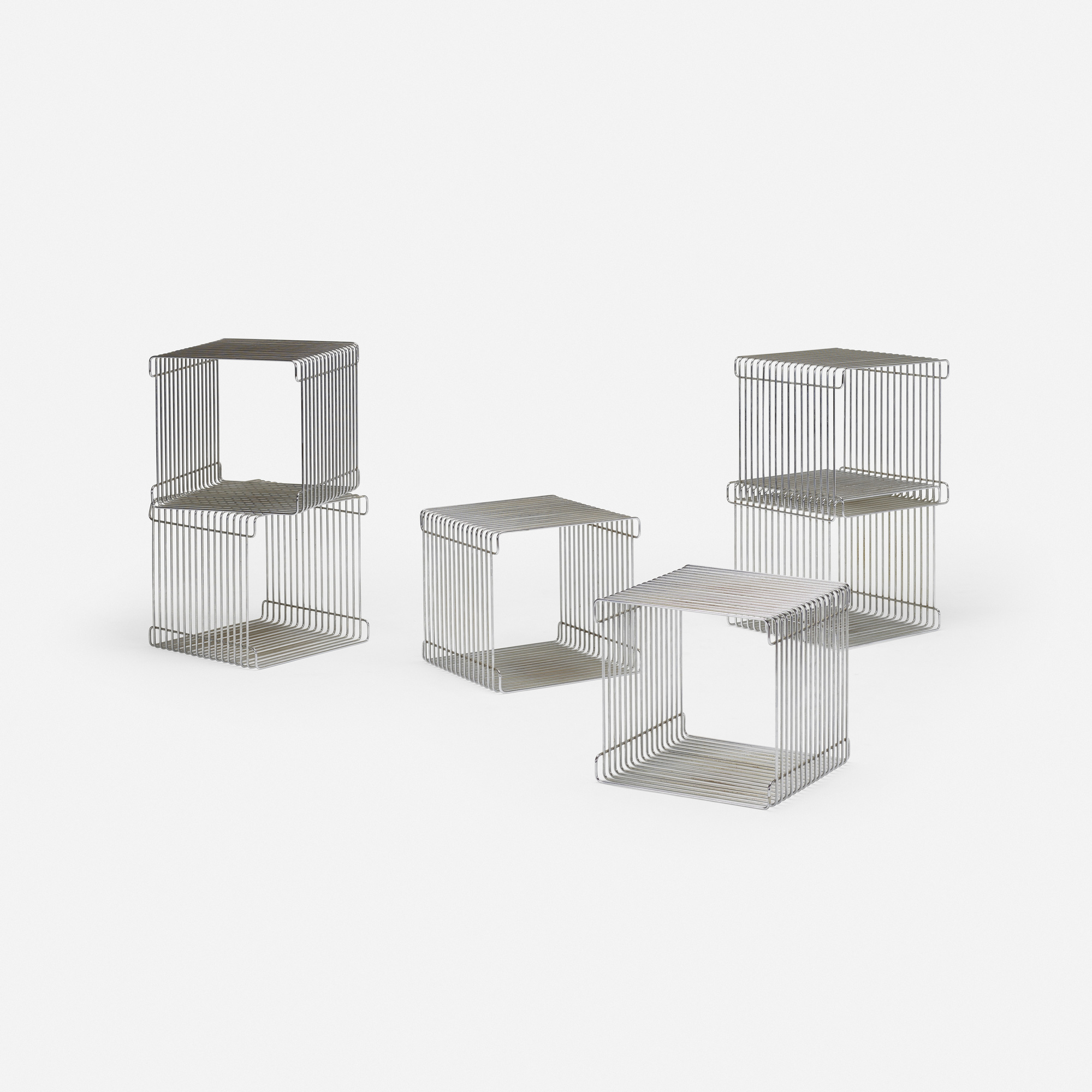 650: In the Manner of Verner Panton / stools, set of six (2 of 4)