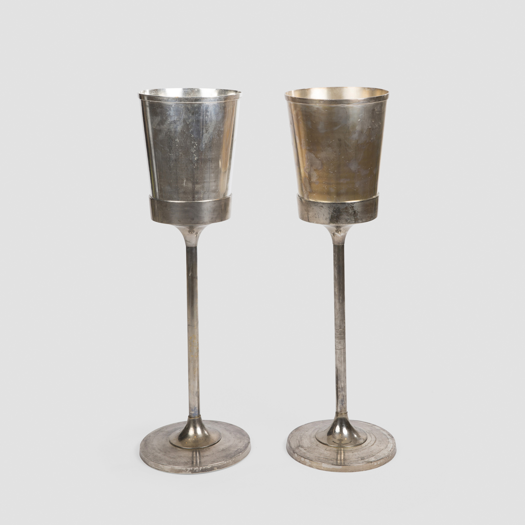 656:  / Wine coolers with stands from The Four Seasons, pair (1 of 1)
