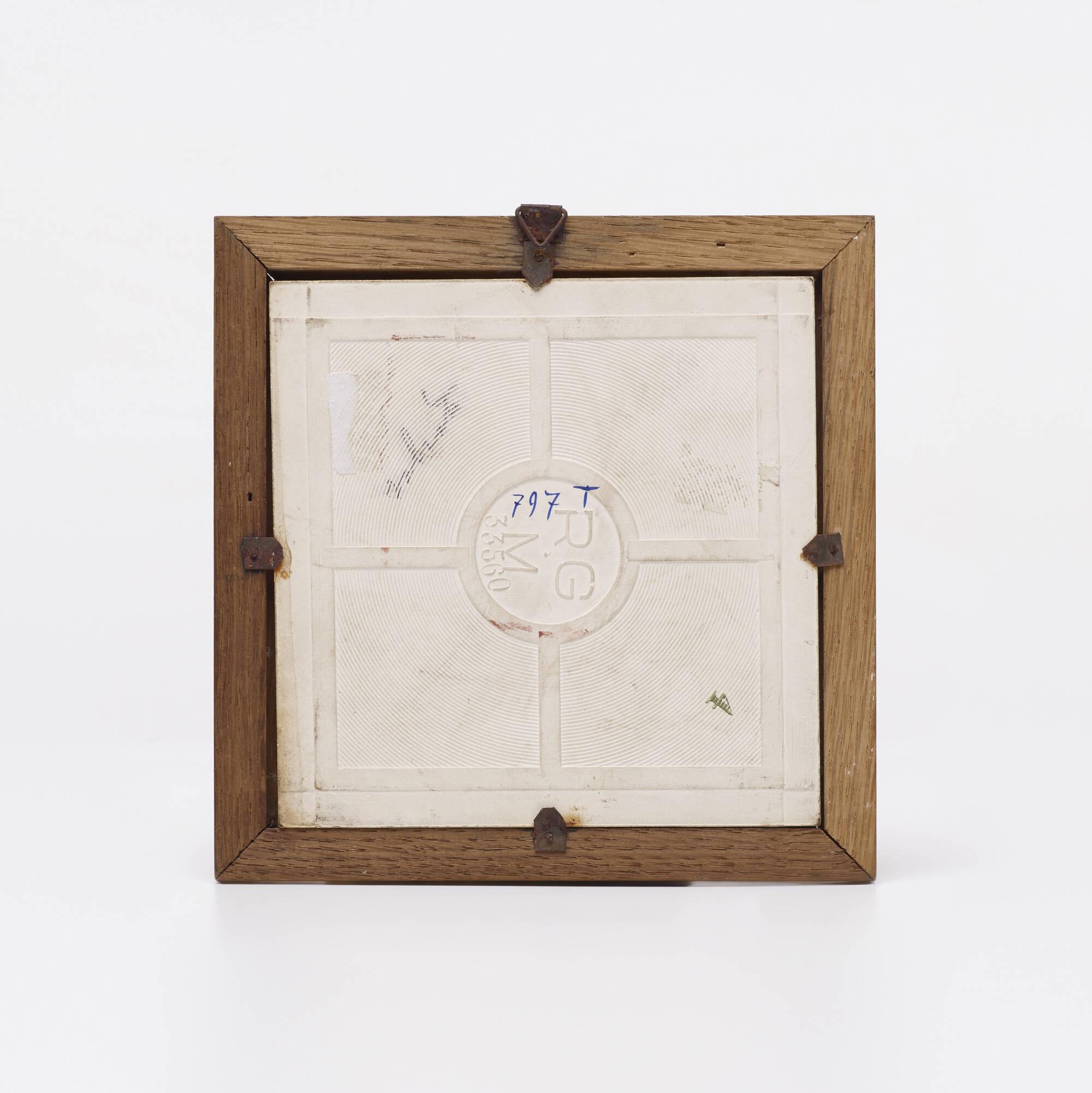 667: Gio Ponti, attribution / tiles, set of four (2 of 2)