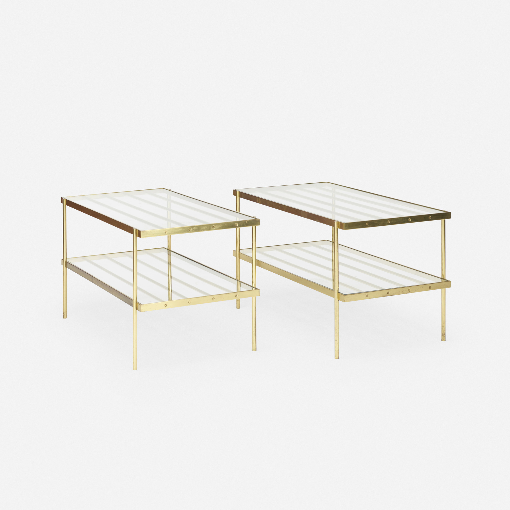 672: In the manner of Harvey Probber / occasional tables, pair (1 of 2)