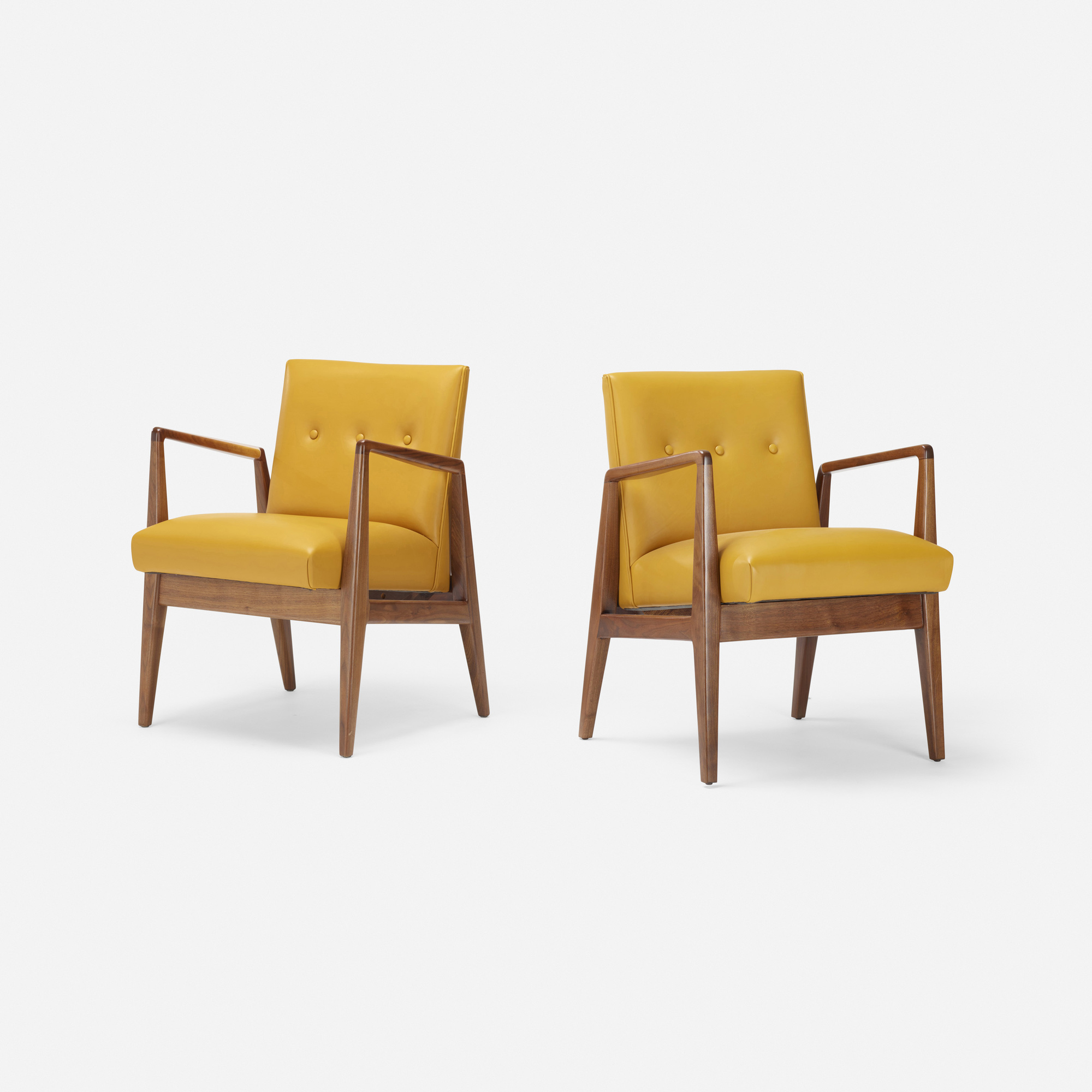 683: Jens Risom / lounge chairs, pair (1 of 2)