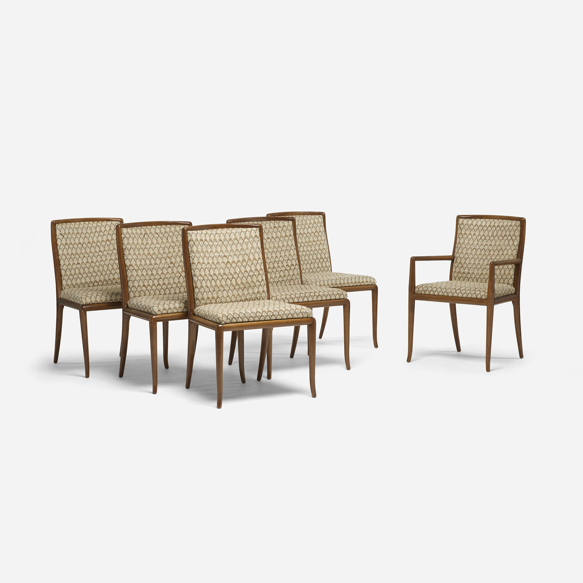 685: T.H. Robsjohn-Gibbings / dining chairs, set of six (1 of 4)