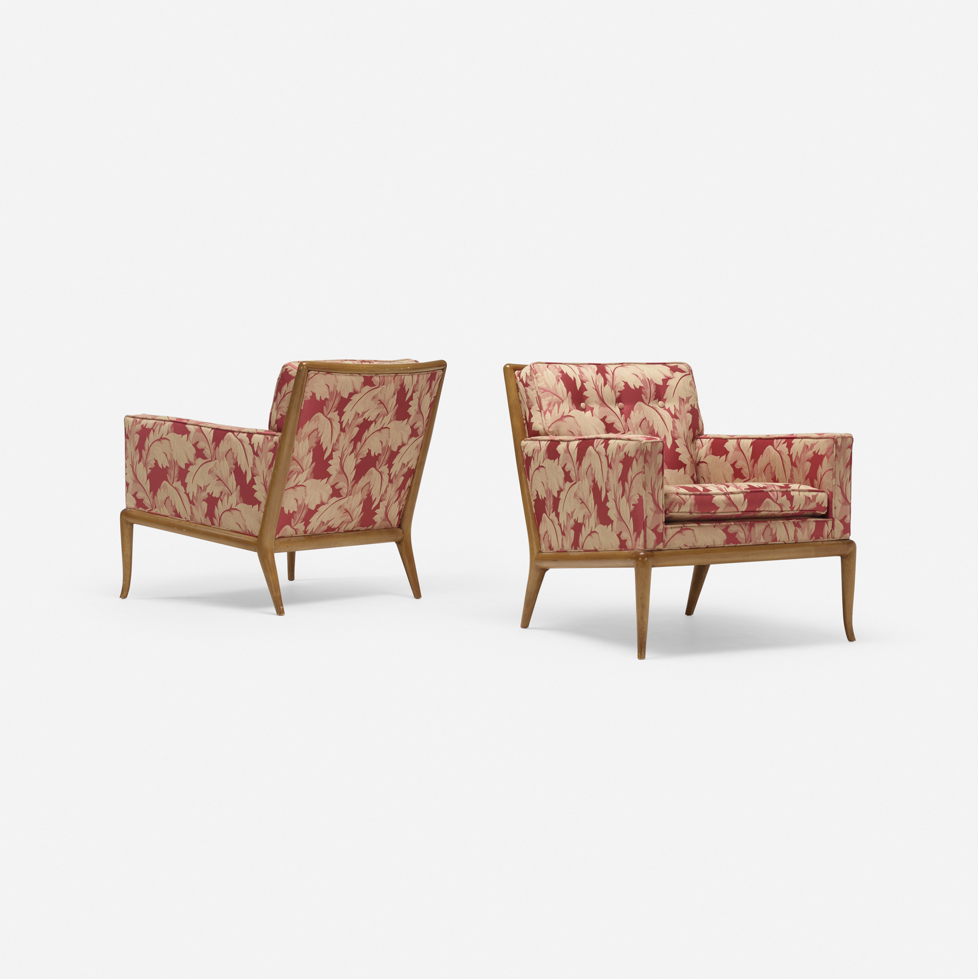 691: T.H. Robsjohn-Gibbings / lounge chairs model WMP, pair (1 of 3)