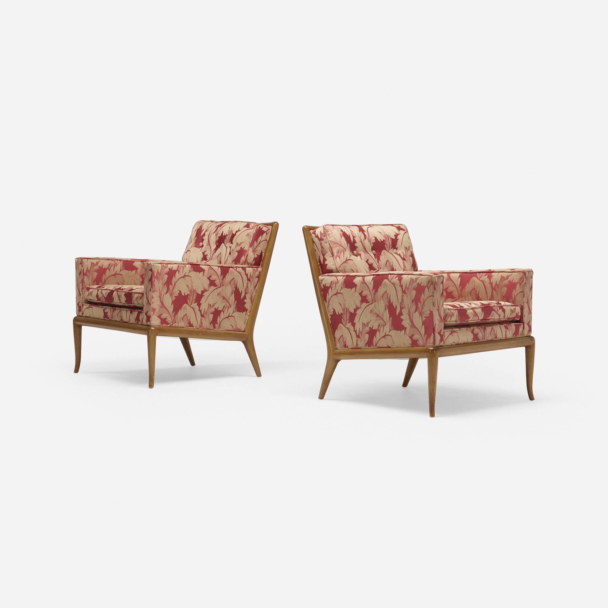 691: T.H. Robsjohn-Gibbings / lounge chairs model WMP, pair (2 of 3)