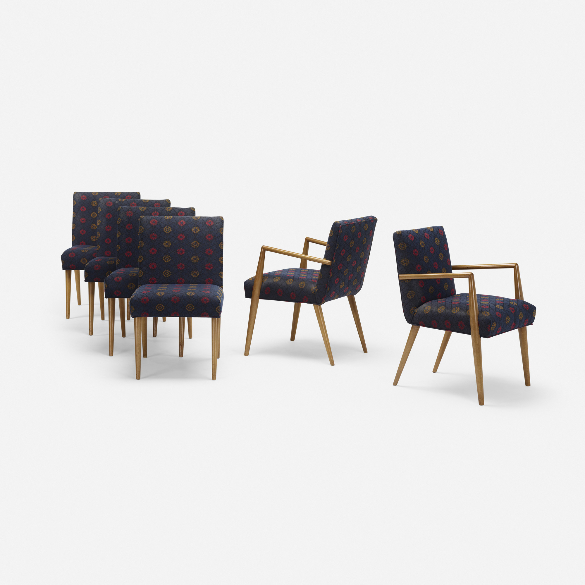 692: T.H. Robsjohn-Gibbings / dining chairs model 1686, set of six (1 of 3)
