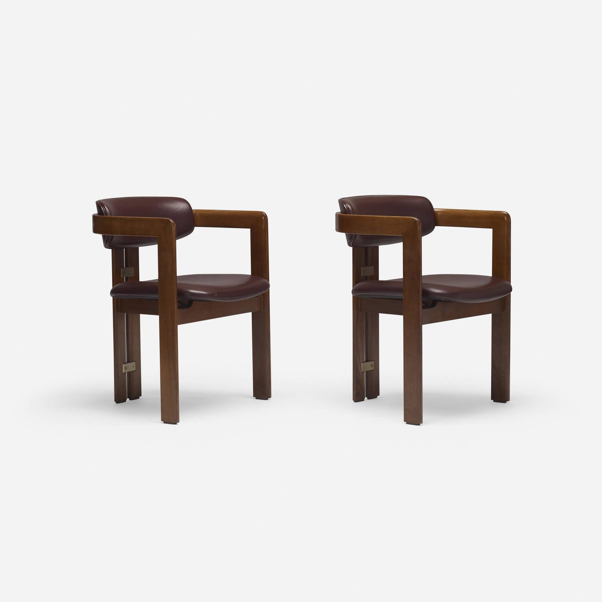 711: Augusto Savini / Pamplona dining chairs, pair (1 of 4)