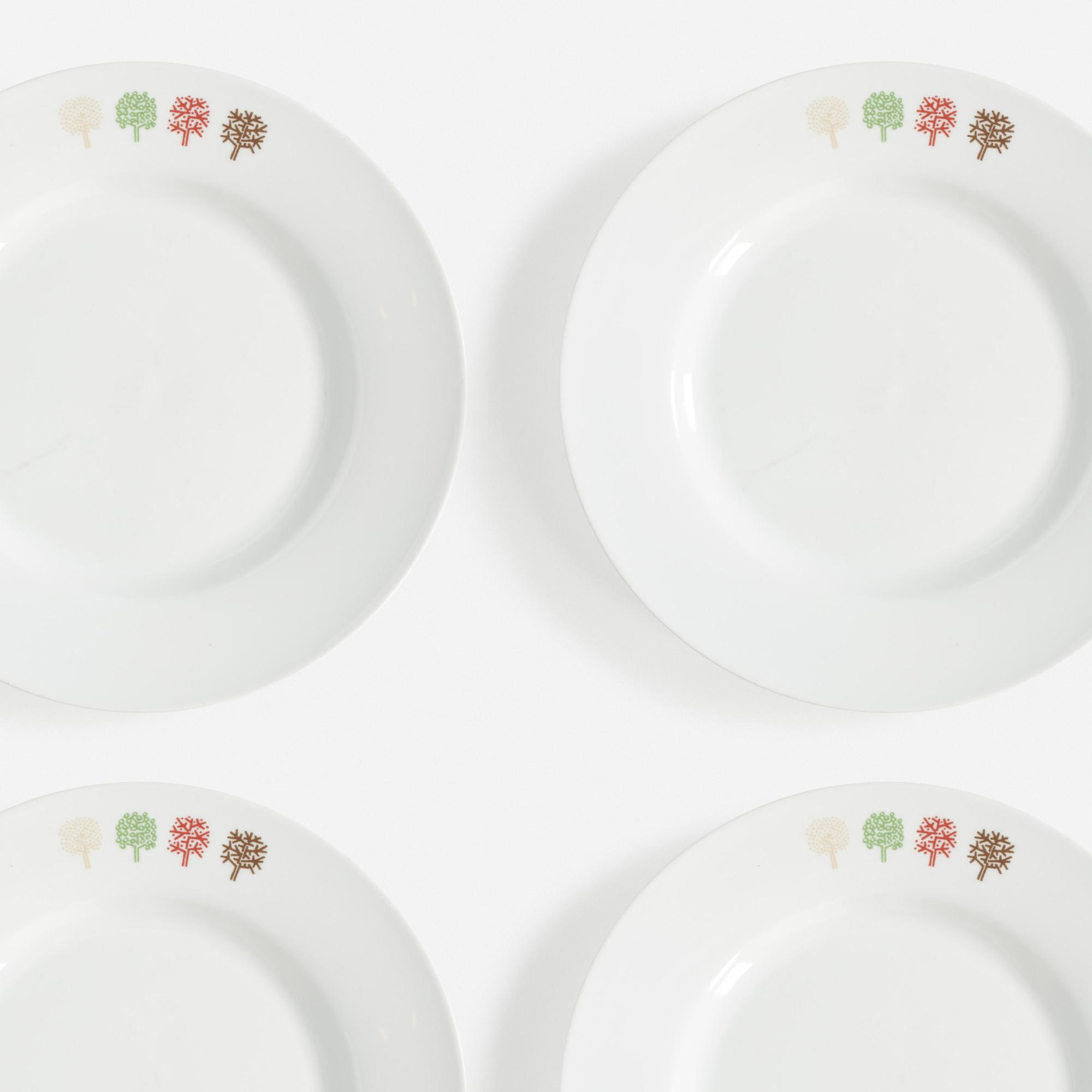 734:  / Four Seasons plates, set of twelve (1 of 1)