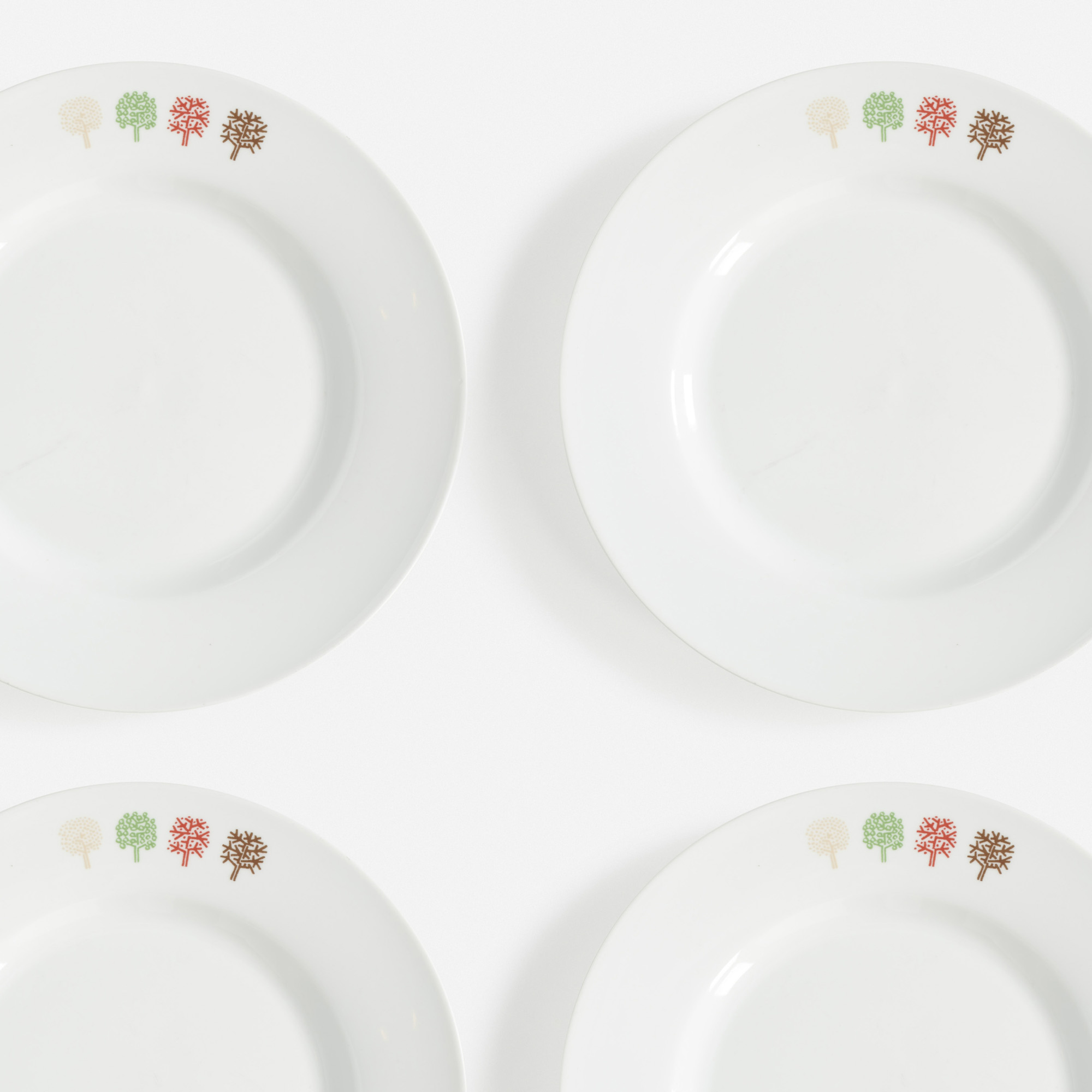 736:  / Four Seasons plates, set of twelve (1 of 1)