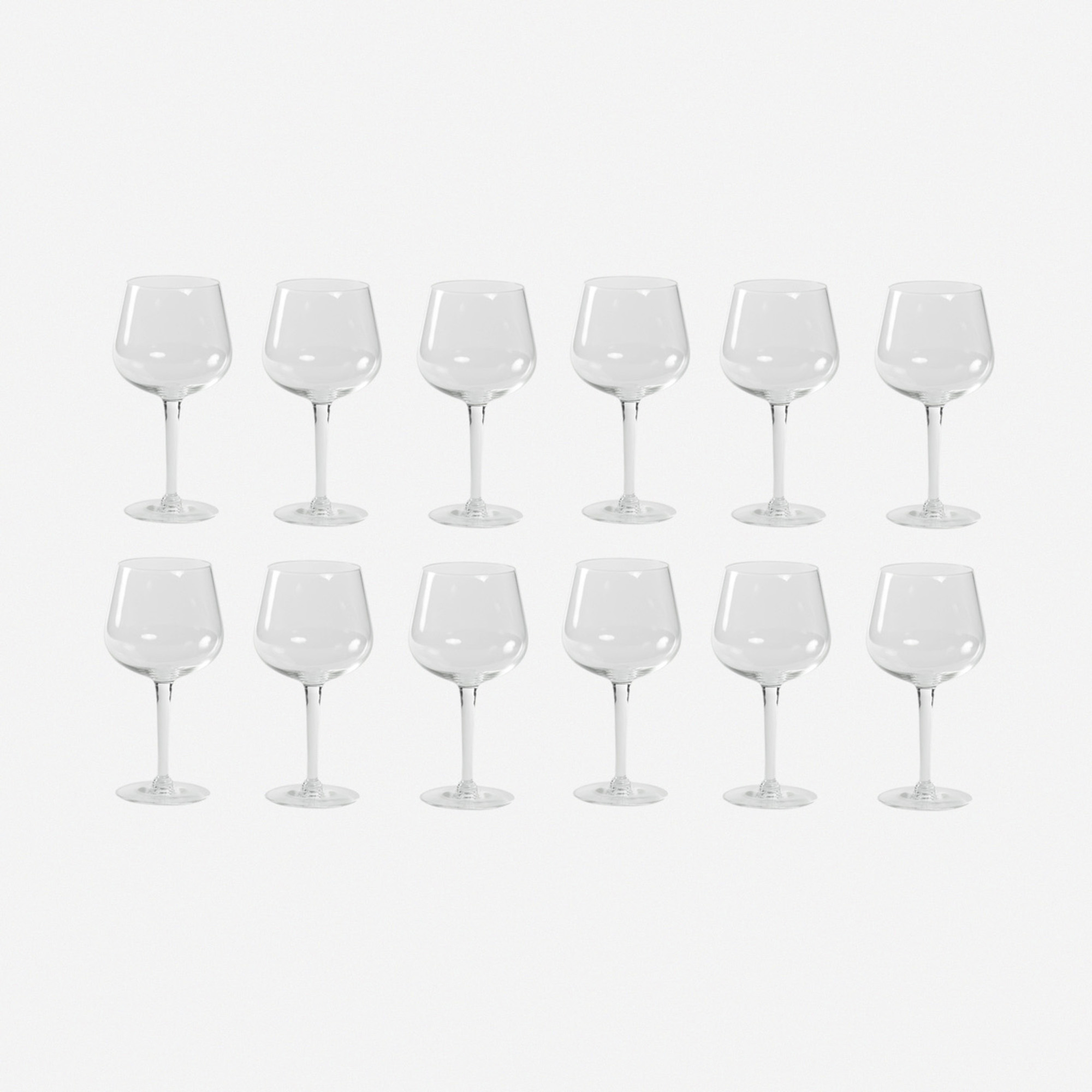 743: Garth and Ada Louise Huxtable / White Wine glasses from The Four Seasons, set of twelve (1 of 1)
