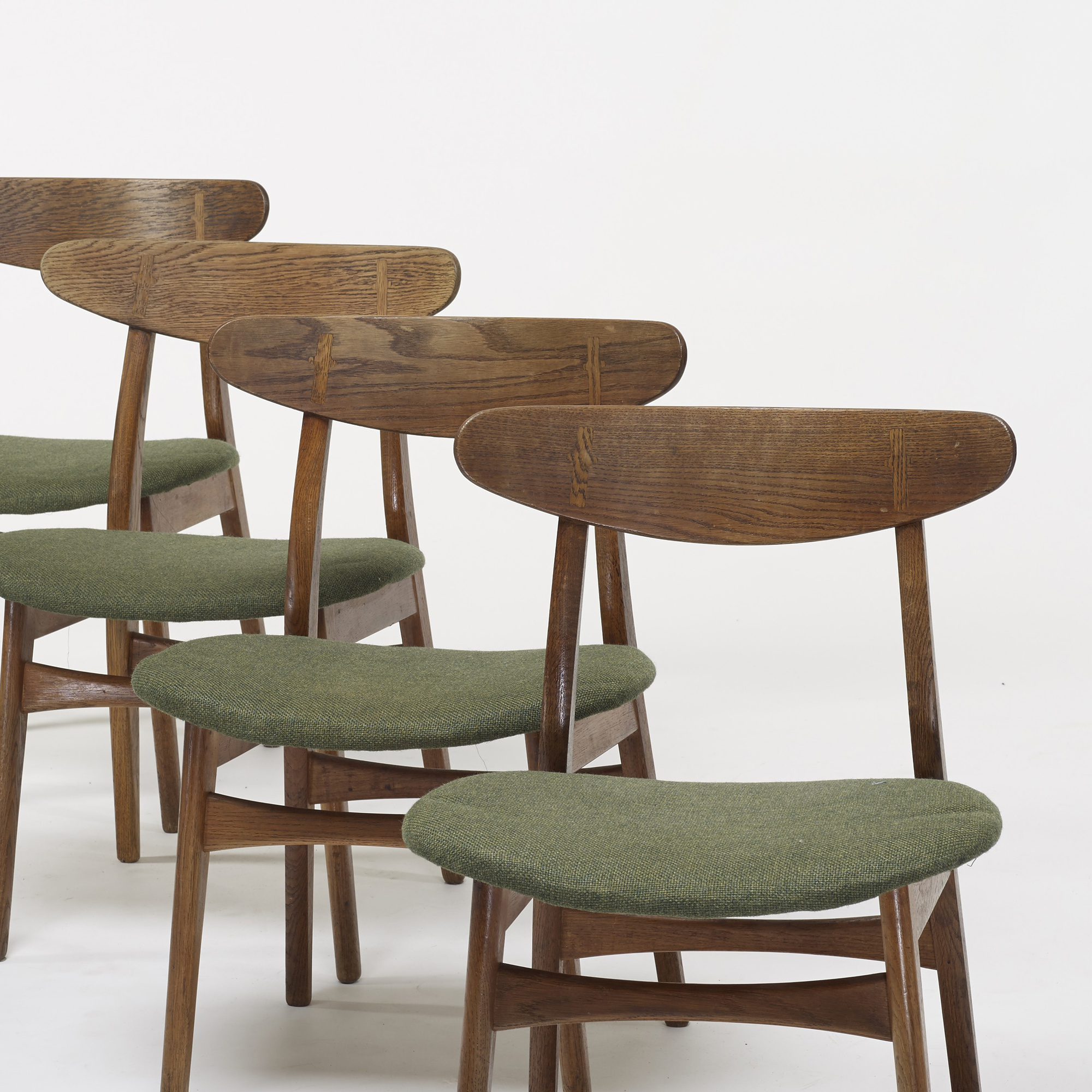 743 HANS J WEGNER, dining chairs model CH 30, set of four