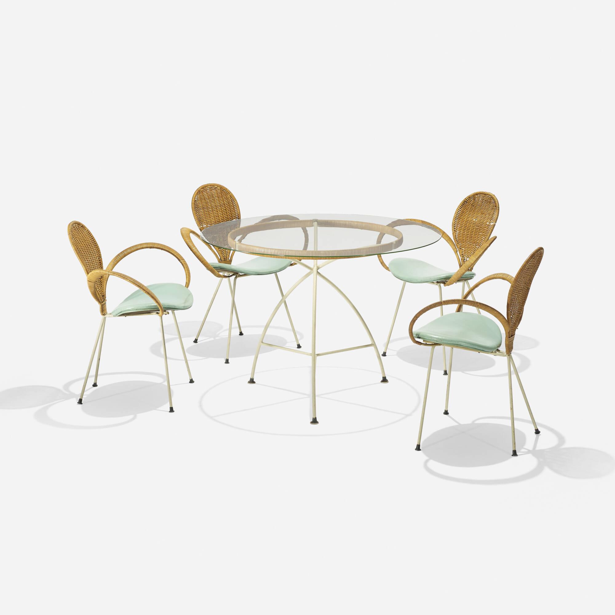 764: Arthur Umanoff, attribution / dining set (1 of 2)