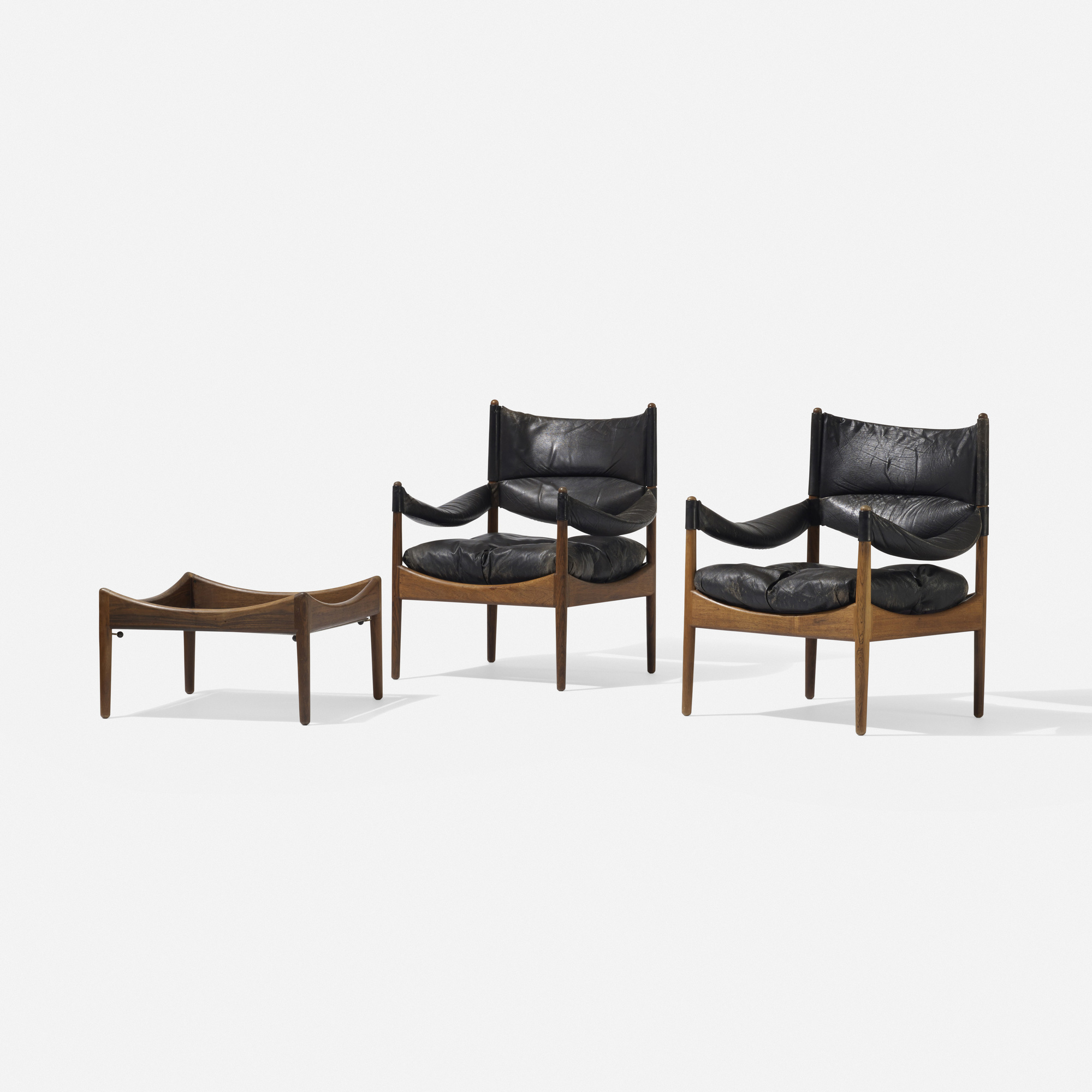 773: Kristian Vedel / pair of Modus lounge chairs and occasional table (1 of 4)