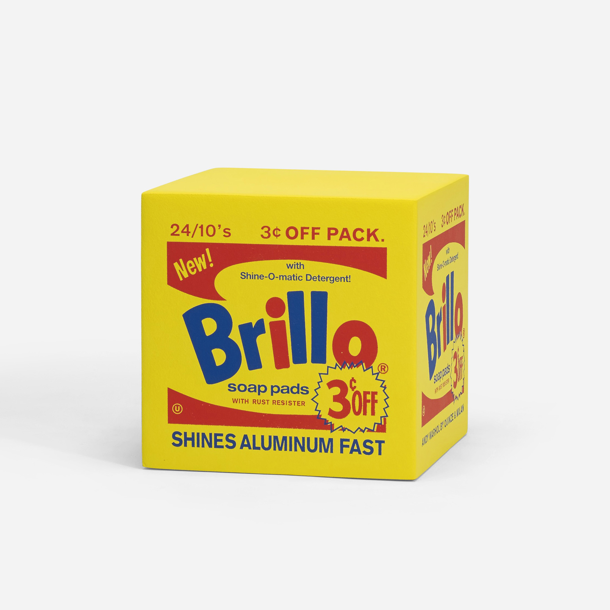 782: Andy Warhol / Brillo pouf yellow (1 of 2)