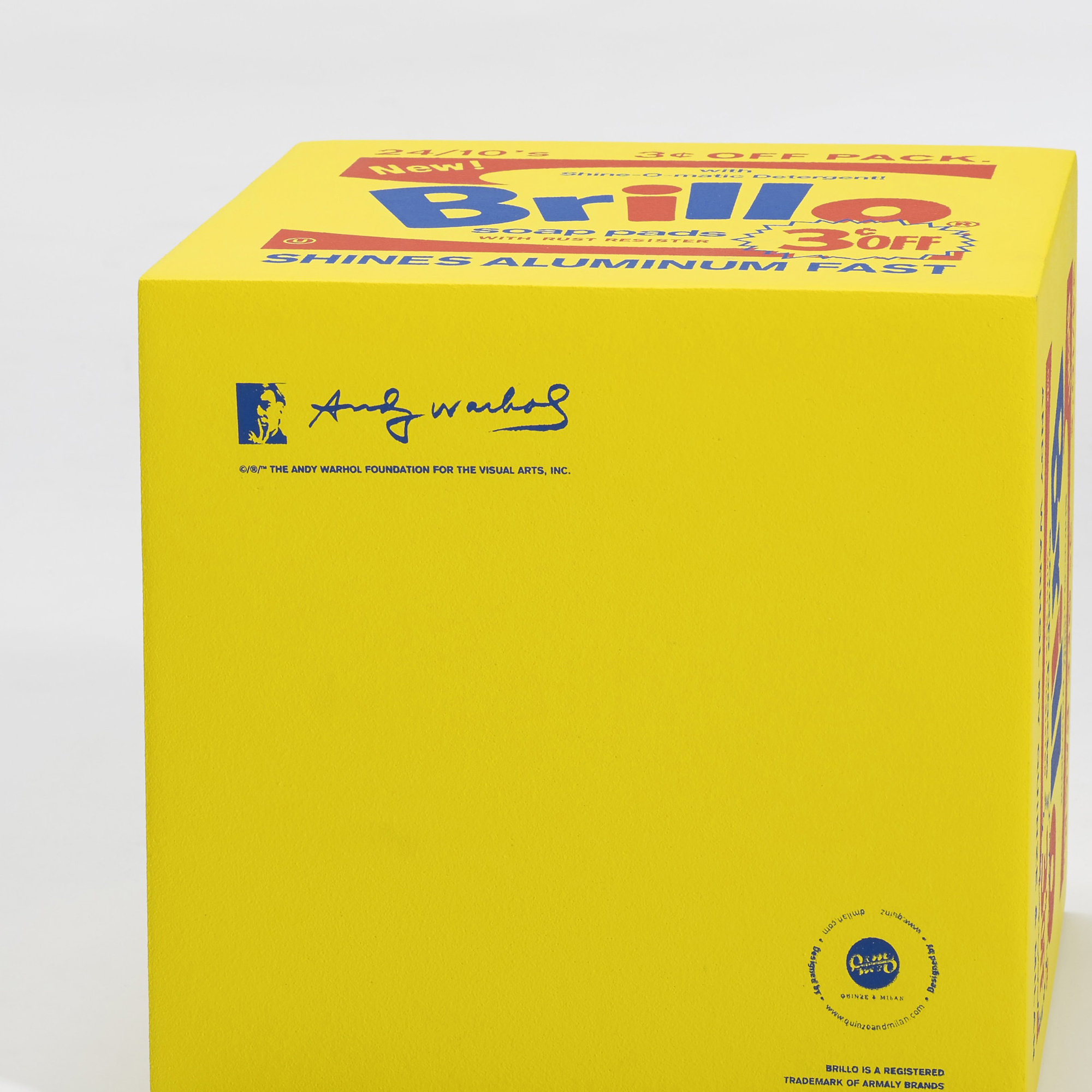 782: Andy Warhol / Brillo pouf yellow (2 of 2)