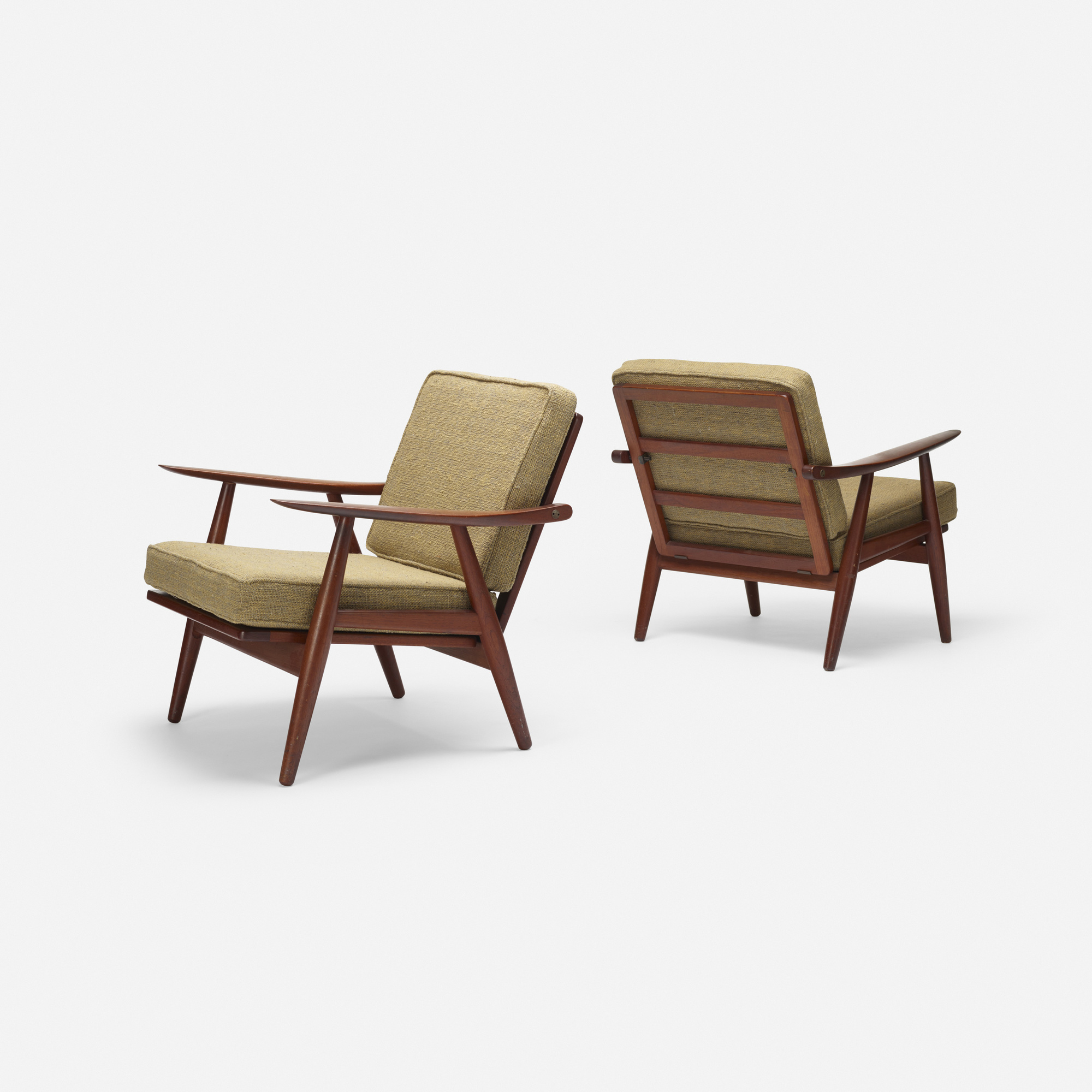 789: Hans J. Wegner / lounge chairs model GH240, pair (2 of 3)
