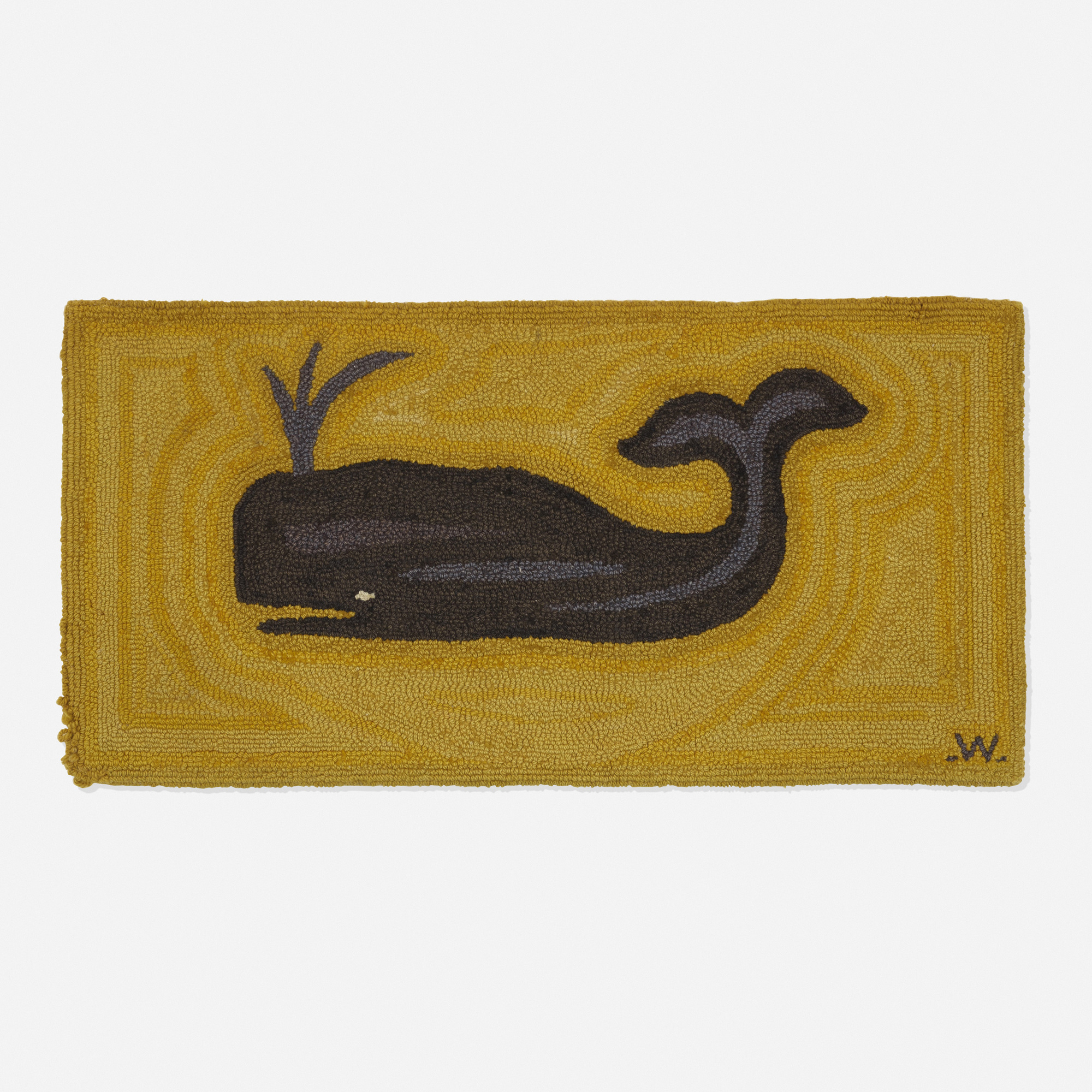 793: George Wells / Spouting Whale rug (1 of 1)