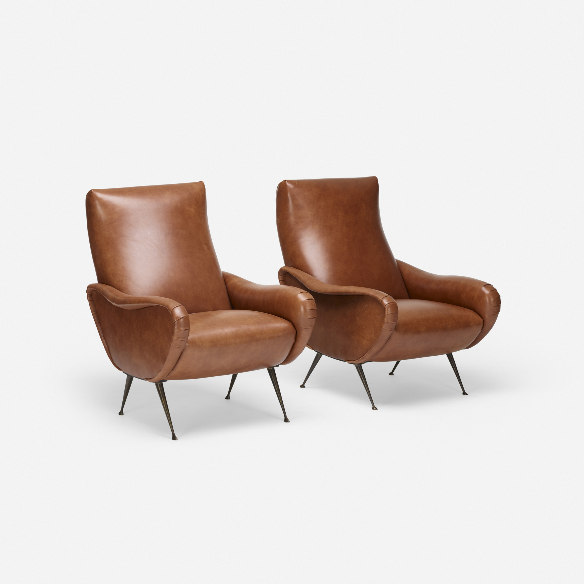 814: In the manner of Marco Zanuso / lounge chairs, pair (2 of 3)