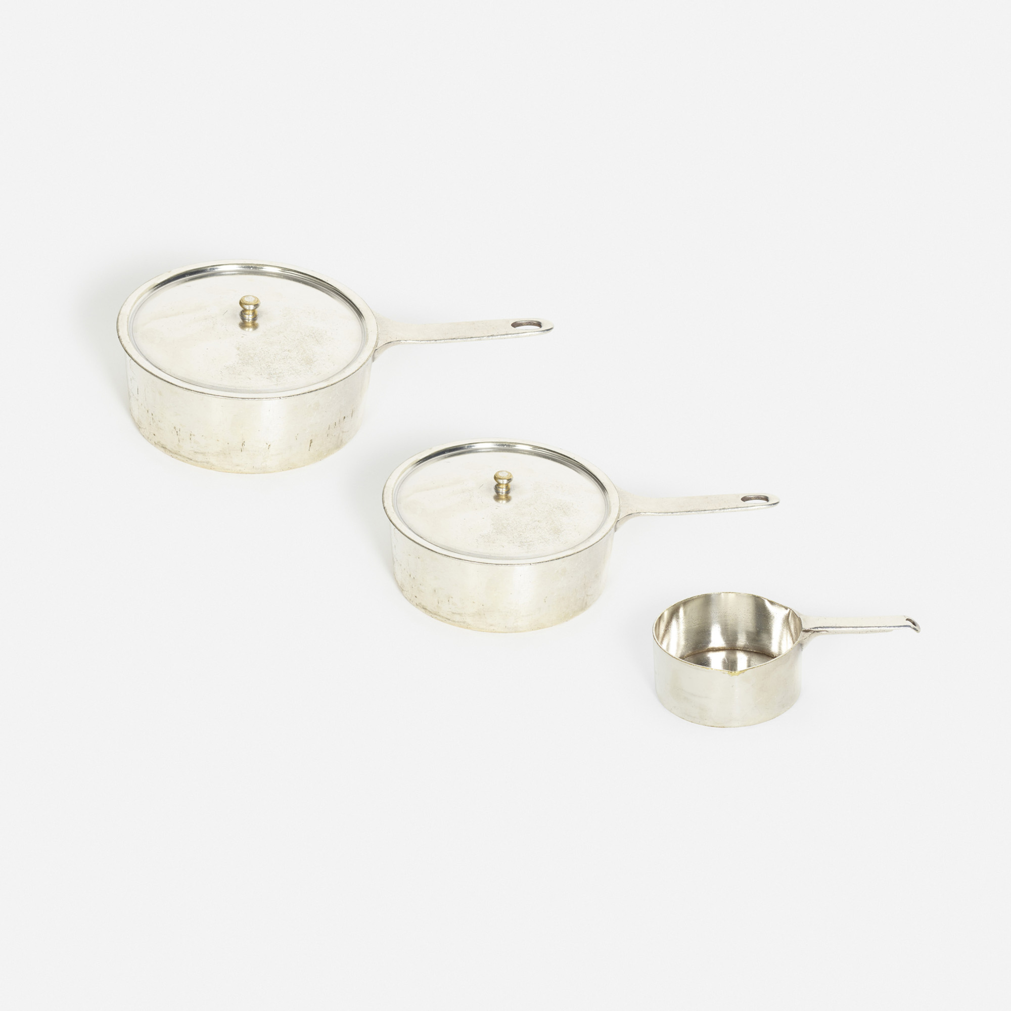 854: Garth and Ada Louise Huxtable / sauce pots from the kitchen of The Four Seasons, set of three (1 of 1)