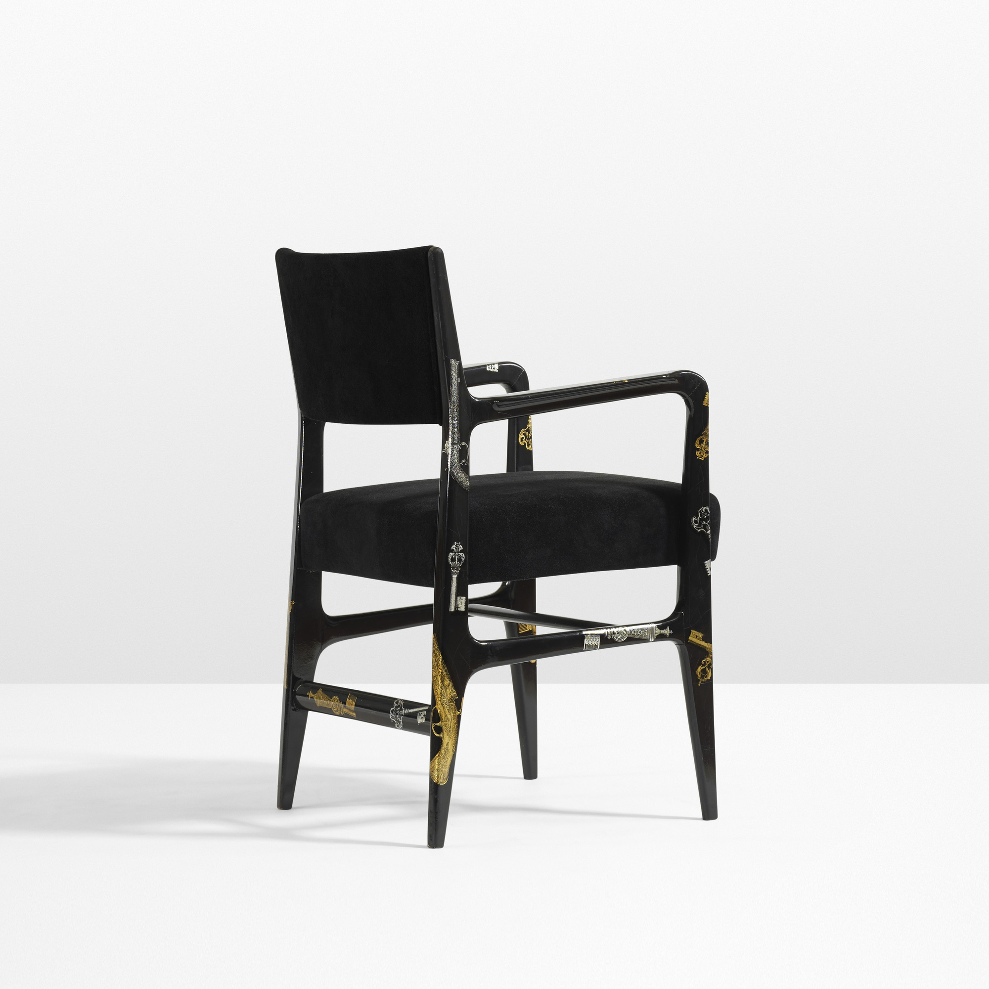 8: Gio Ponti And Piero Fornasetti / Rare Armchair (1 Of 4) ...