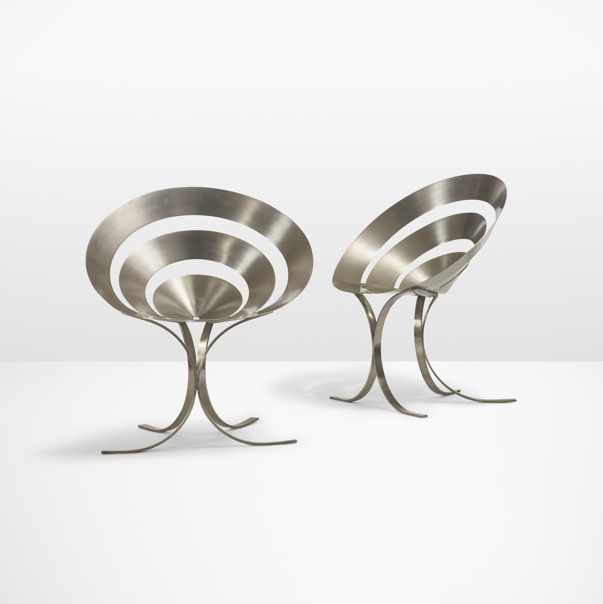 8: Maria Pergay / Important pair of Ring chairs (1 of 4)