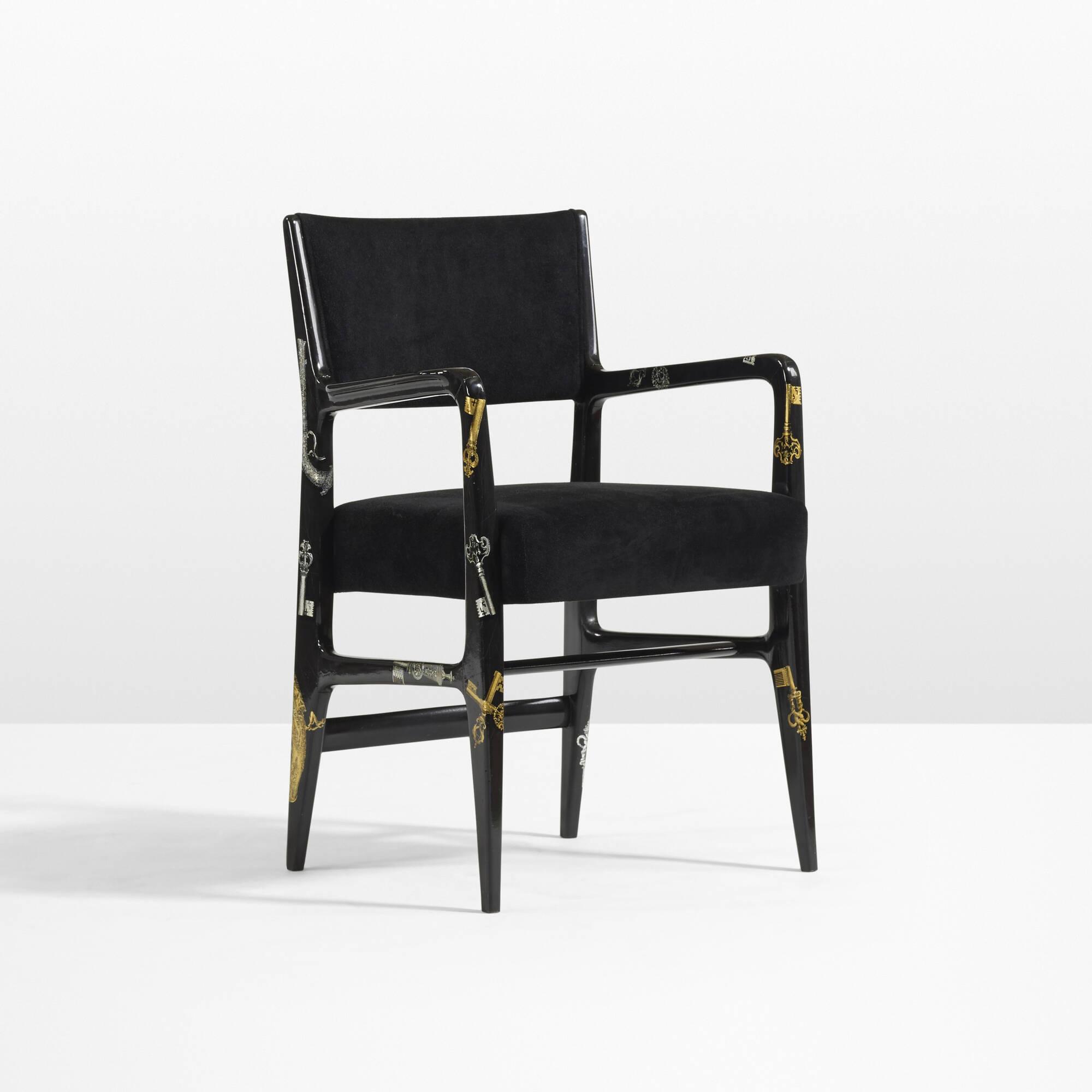 8: Gio Ponti and Piero Fornasetti / Rare armchair (2 of 4)