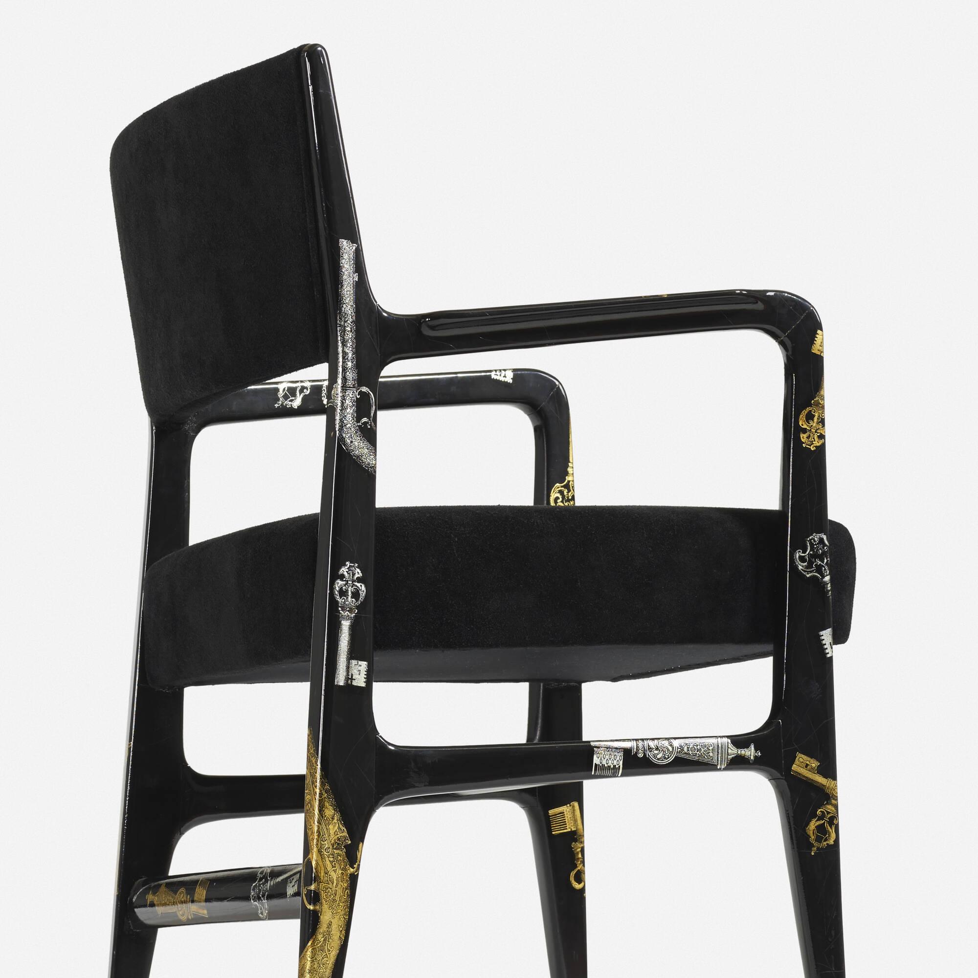 8: Gio Ponti and Piero Fornasetti / Rare armchair (3 of 4)