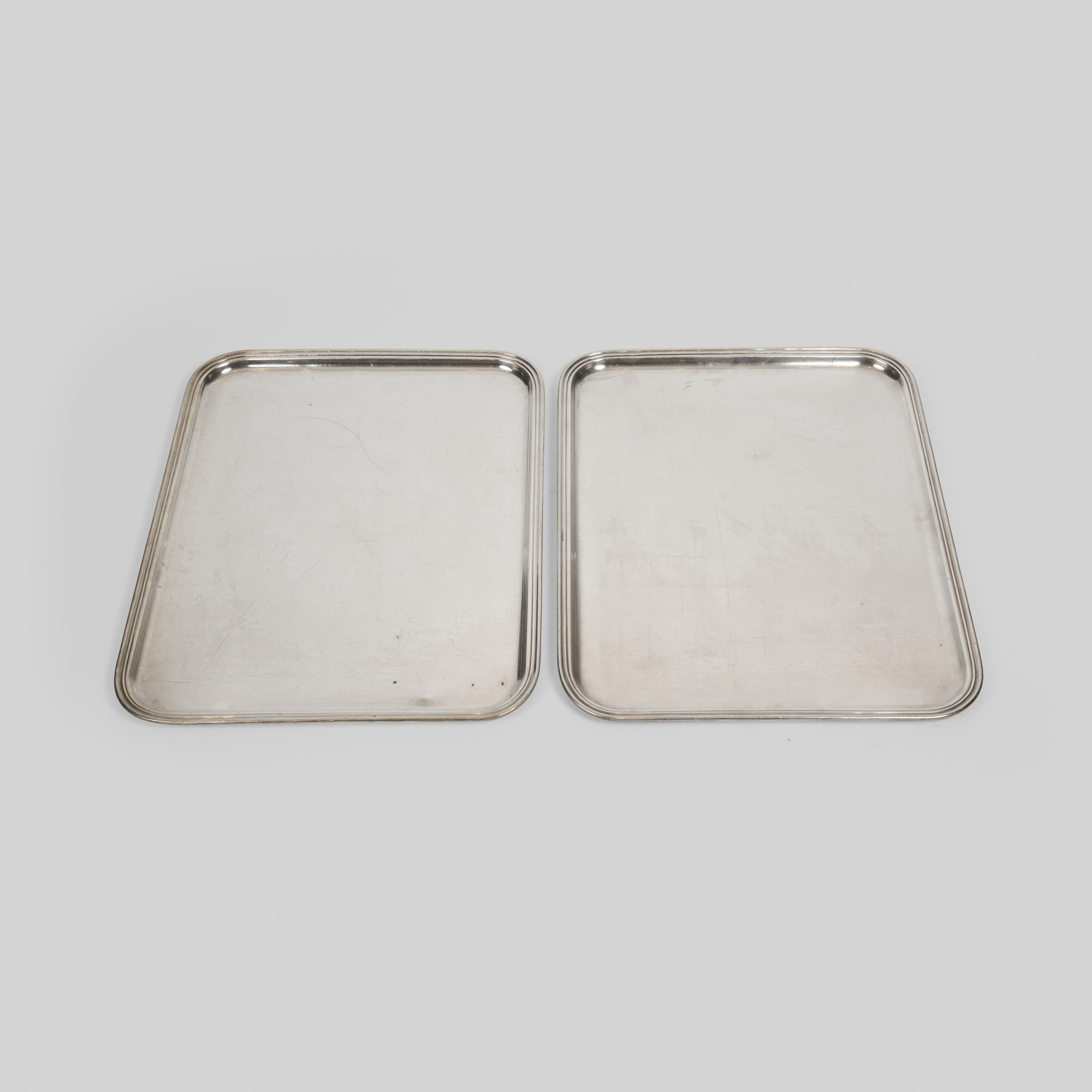 954:  / Large serving platters from The Four Seasons, pair (1 of 1)